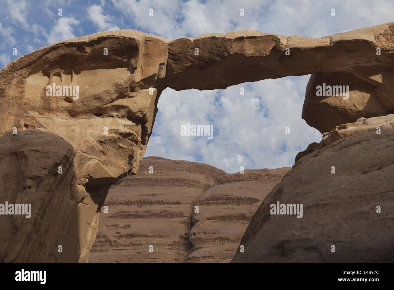 Burdah e Um Frouth ponti di roccia, Giordania Immagini Stock