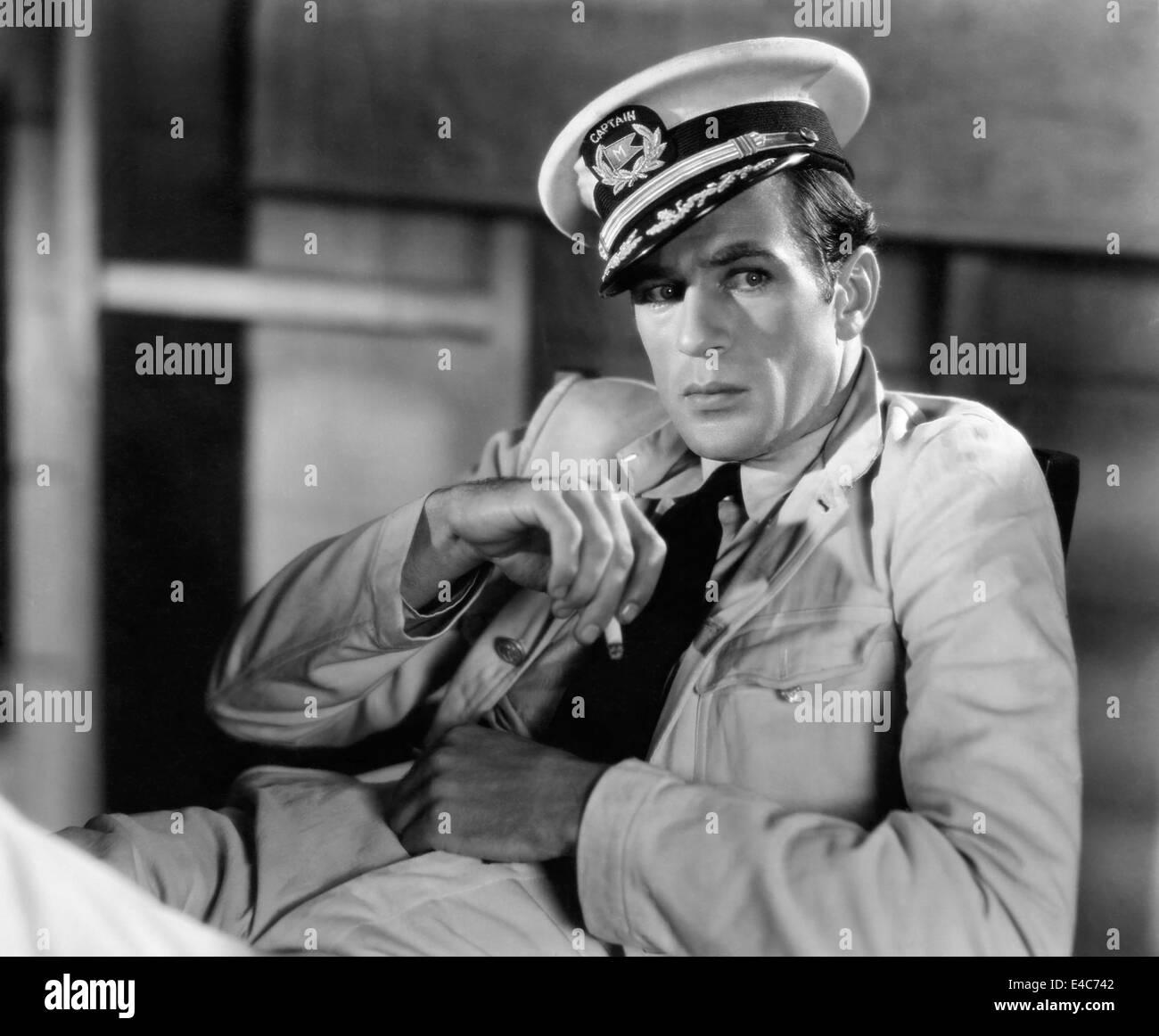 """Gary Cooper, sul set del film """"La sua donna"""", 1931 Immagini Stock"""