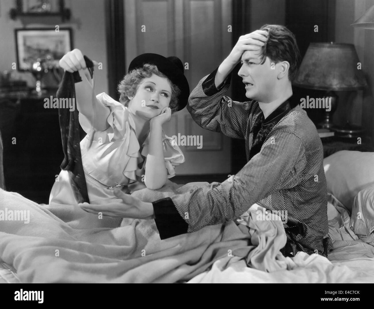 """Margaret Perry, Robert giovane, sul set del film """"nuova morale per il Vecchio"""", 1932 Immagini Stock"""