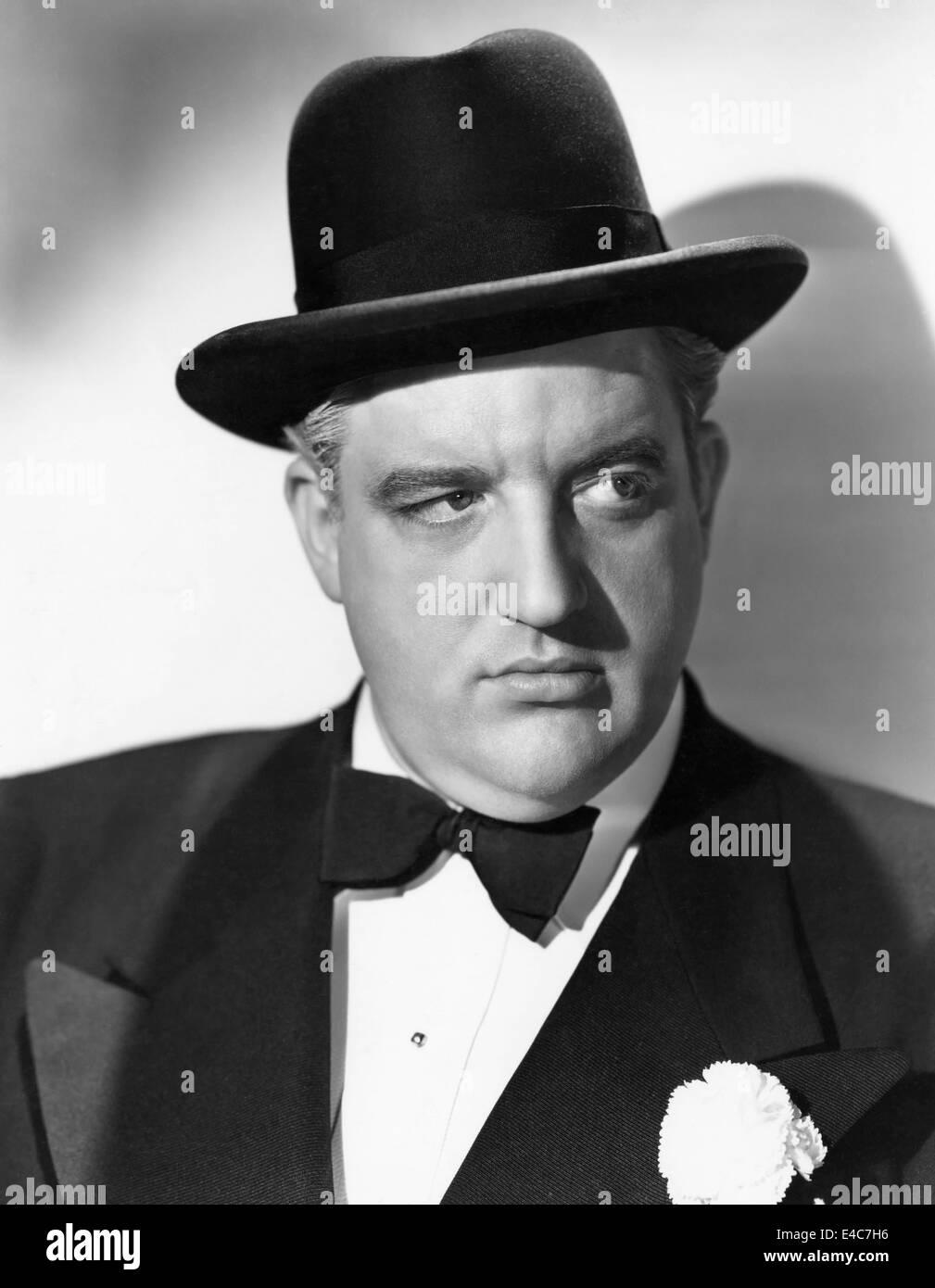 """Laird Cregar, sul set del film """"anelli sulle sue dita', 1942 Immagini Stock"""