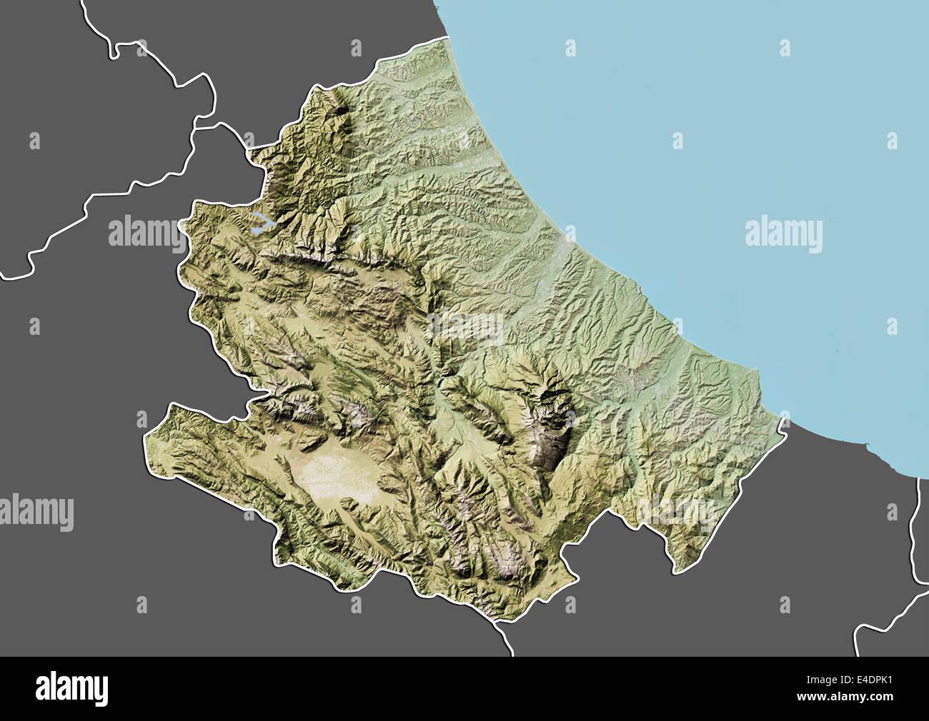 Cartina Della Regione Abruzzo.La Regione Abruzzo Italia Mappa Di Sfiato Foto Stock Alamy
