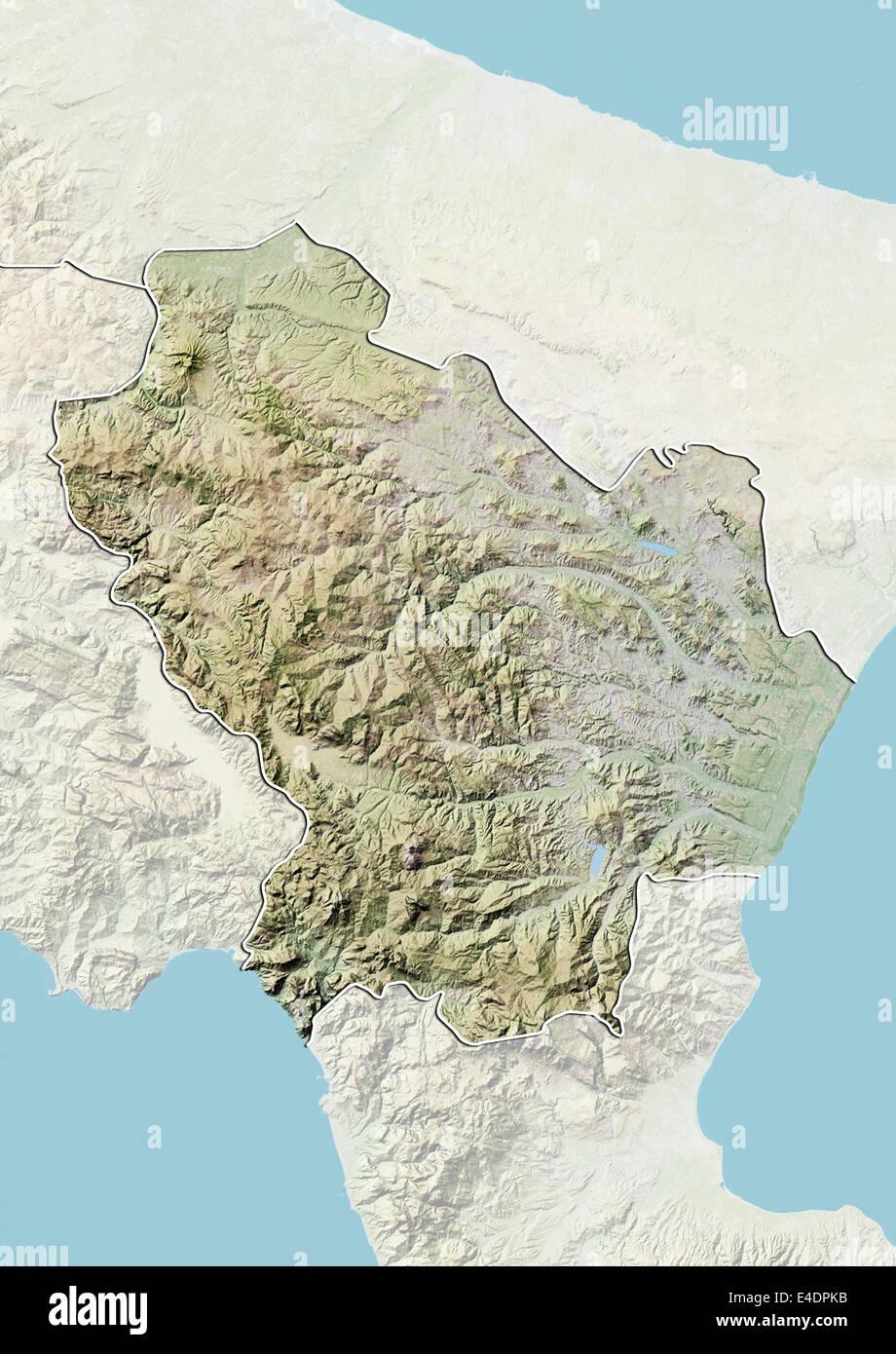 Cartina Geografica Regione Basilicata.Regione Basilicata Italia Mappa Di Sfiato Foto Stock Alamy