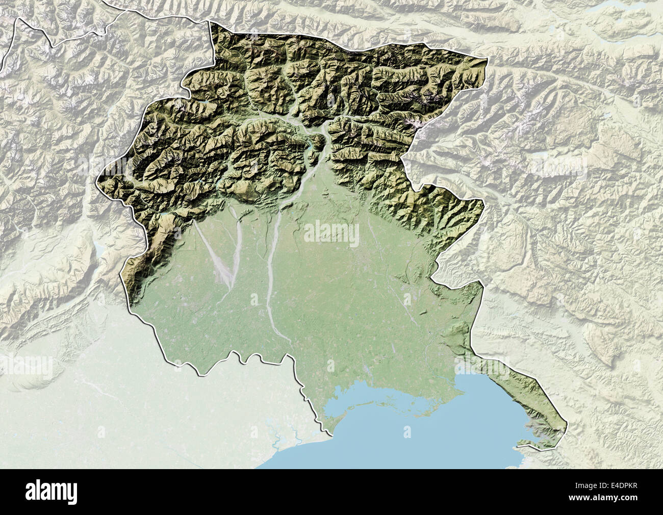 Regione Friuli Venezia Giulia Cartina.Regione Del Friuli Venezia Giulia Italia Mappa Di Sfiato Foto Stock Alamy