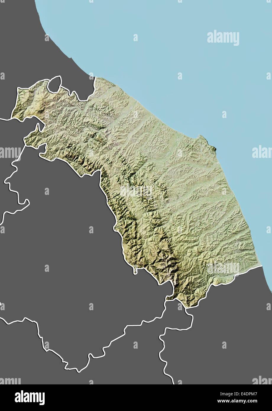Cartina Dell Italia Marche.Regione Marche Italia Mappa Di Sfiato Foto Stock Alamy
