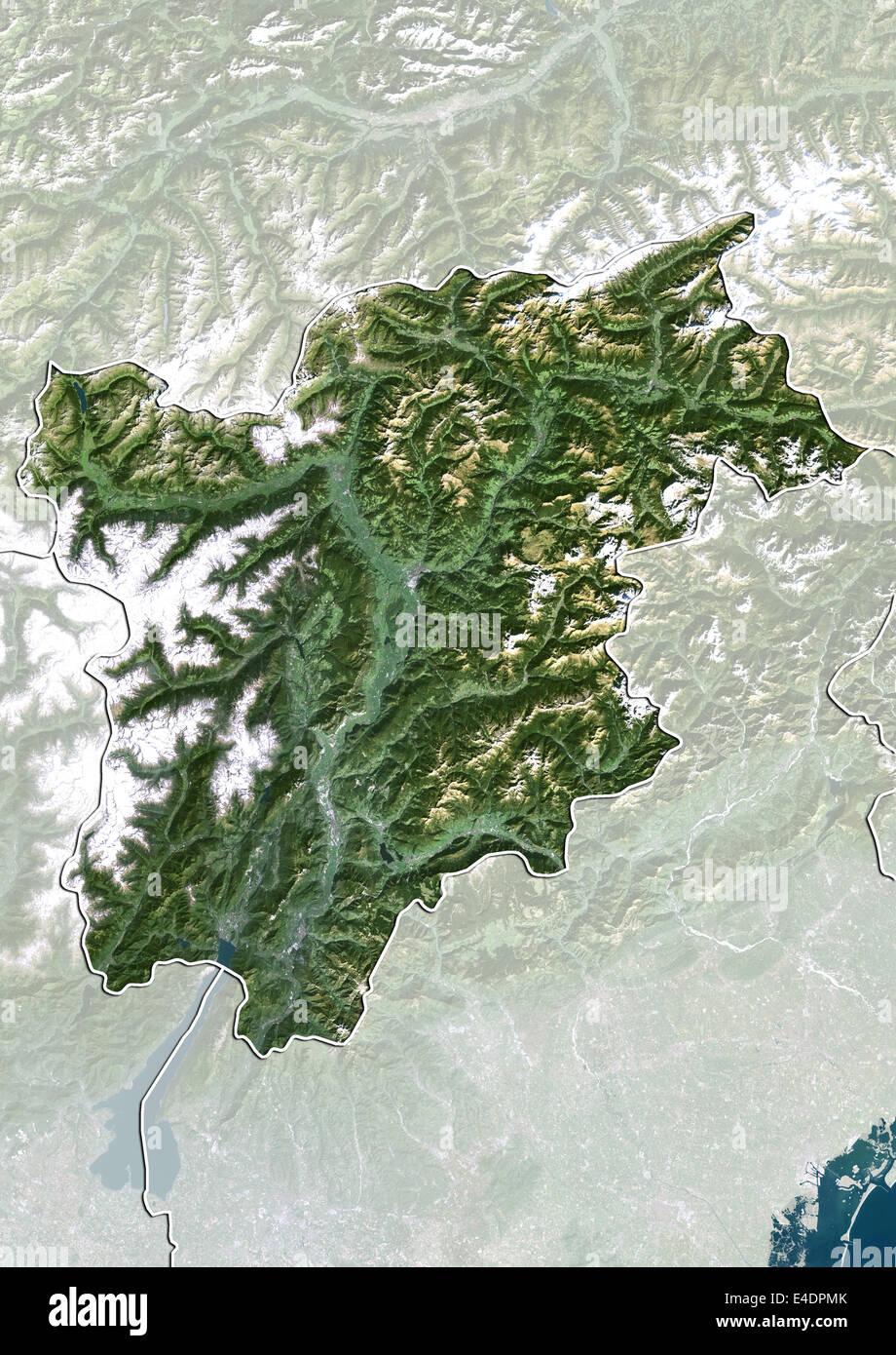 Trentino Alto Adige Cartina Geografica Fisica.Regione Trentino Alto Adige Italia True Color Satellitare Immagine Foto Stock Alamy