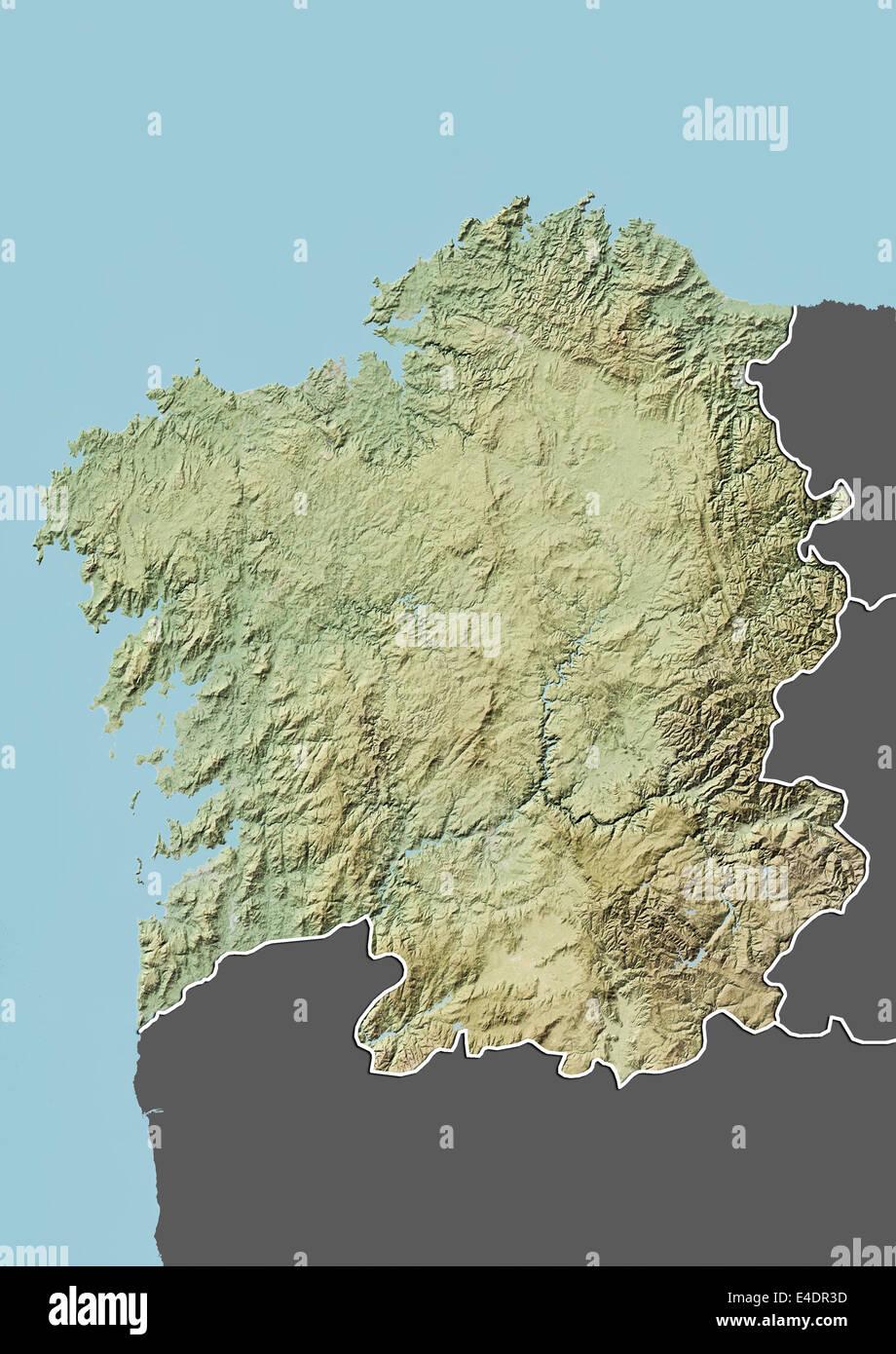 Spagna Galizia Cartina.La Galizia Spagna Mappa Di Sfiato Foto Stock Alamy
