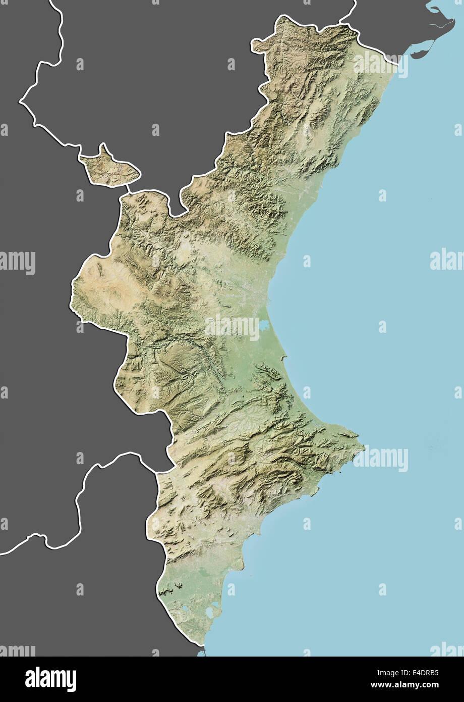 Spagna Valencia Cartina.Valencia Spagna Mappa Di Sfiato Foto Stock Alamy