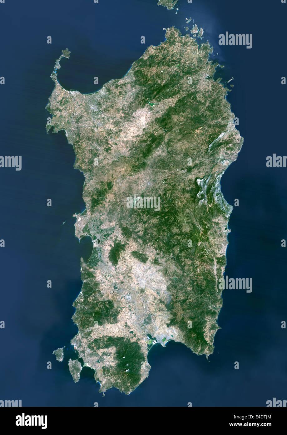 Cartina Sardegna Grande.Sardegna Italia True Color Satellitare Immagine Sardegna Italia True Color Immagine Satellitare Della Sardegna La Seconda Piu Grande Islan Foto Stock Alamy