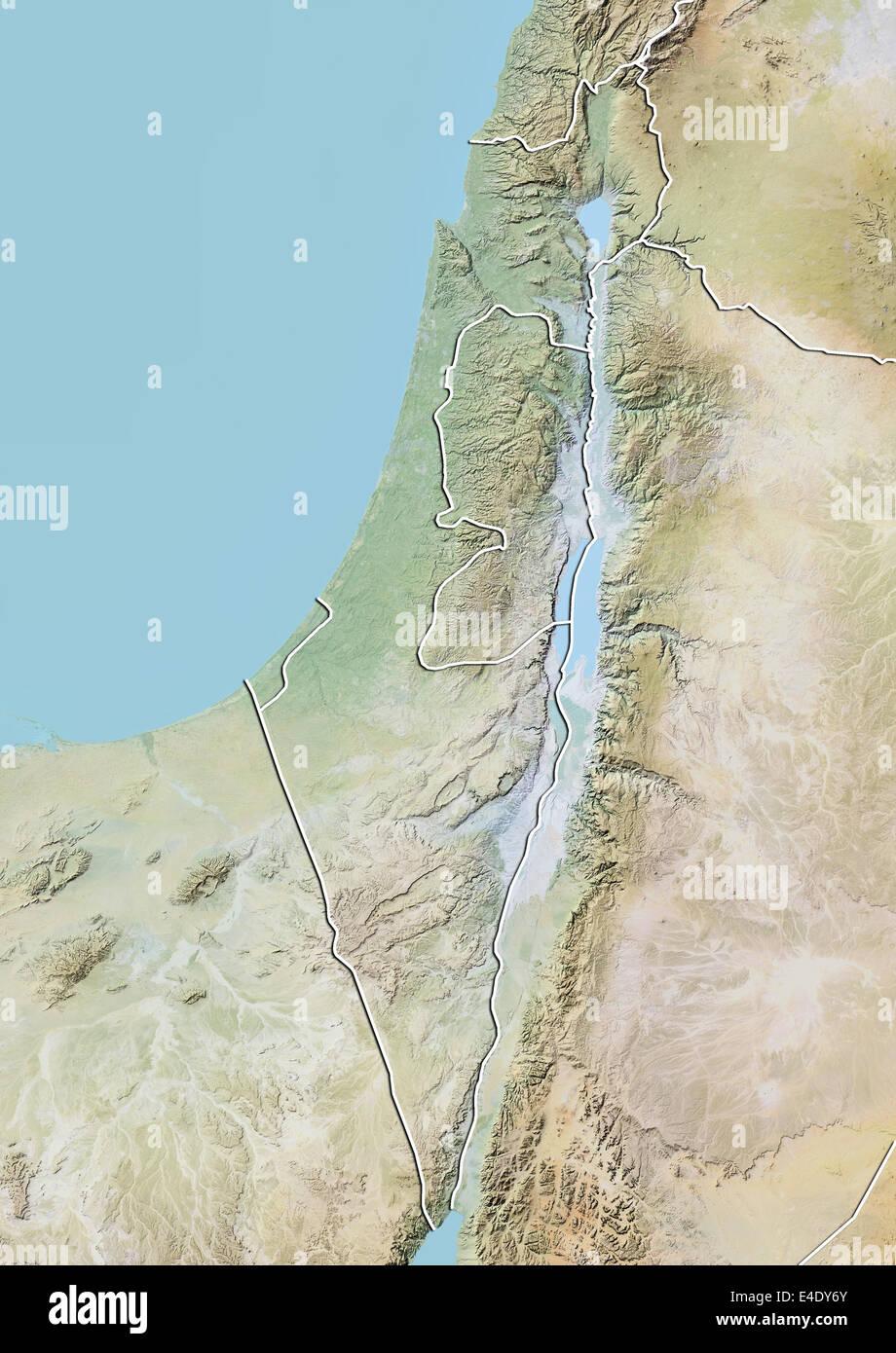 Cartina Fisica Dell Israele.Israele Carta In Rilievo Con Bordo Foto Stock Alamy