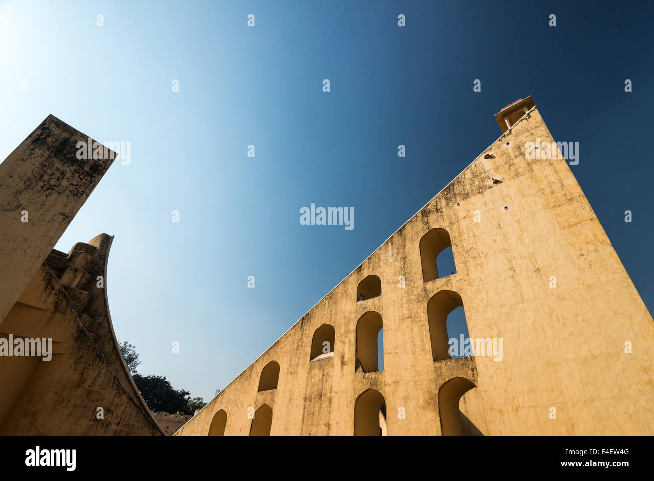 Jantar Mantar, giant osservatorio astronomico a Jaipur, India. Immagini Stock
