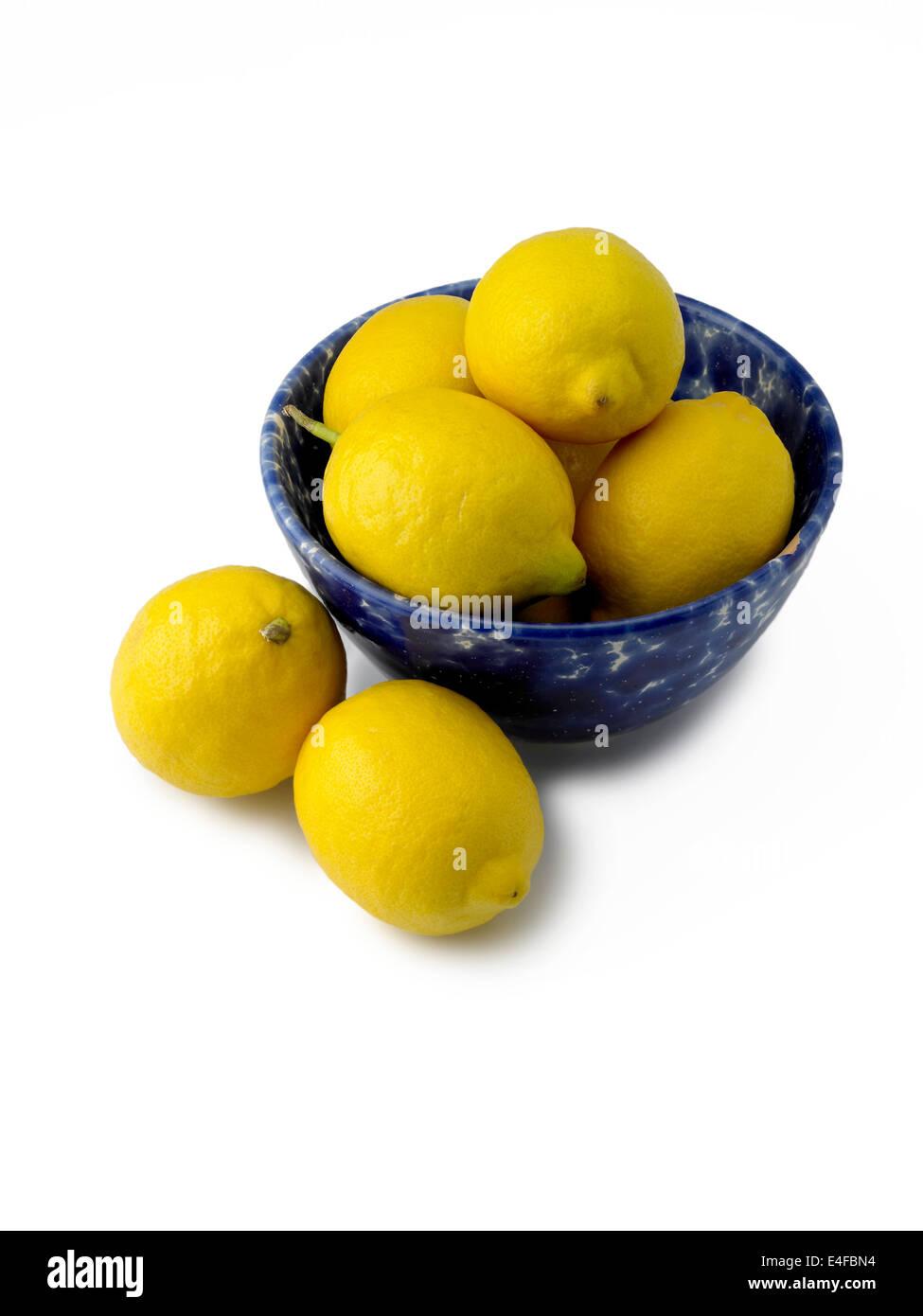 limoni in ciotola Immagini Stock