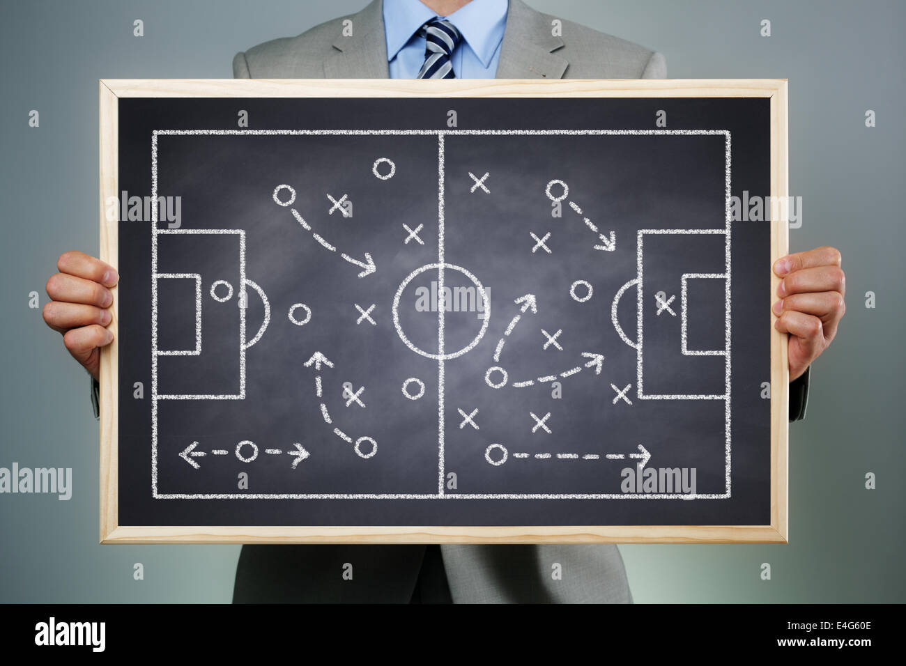 Organizzazione del team e strategia Immagini Stock