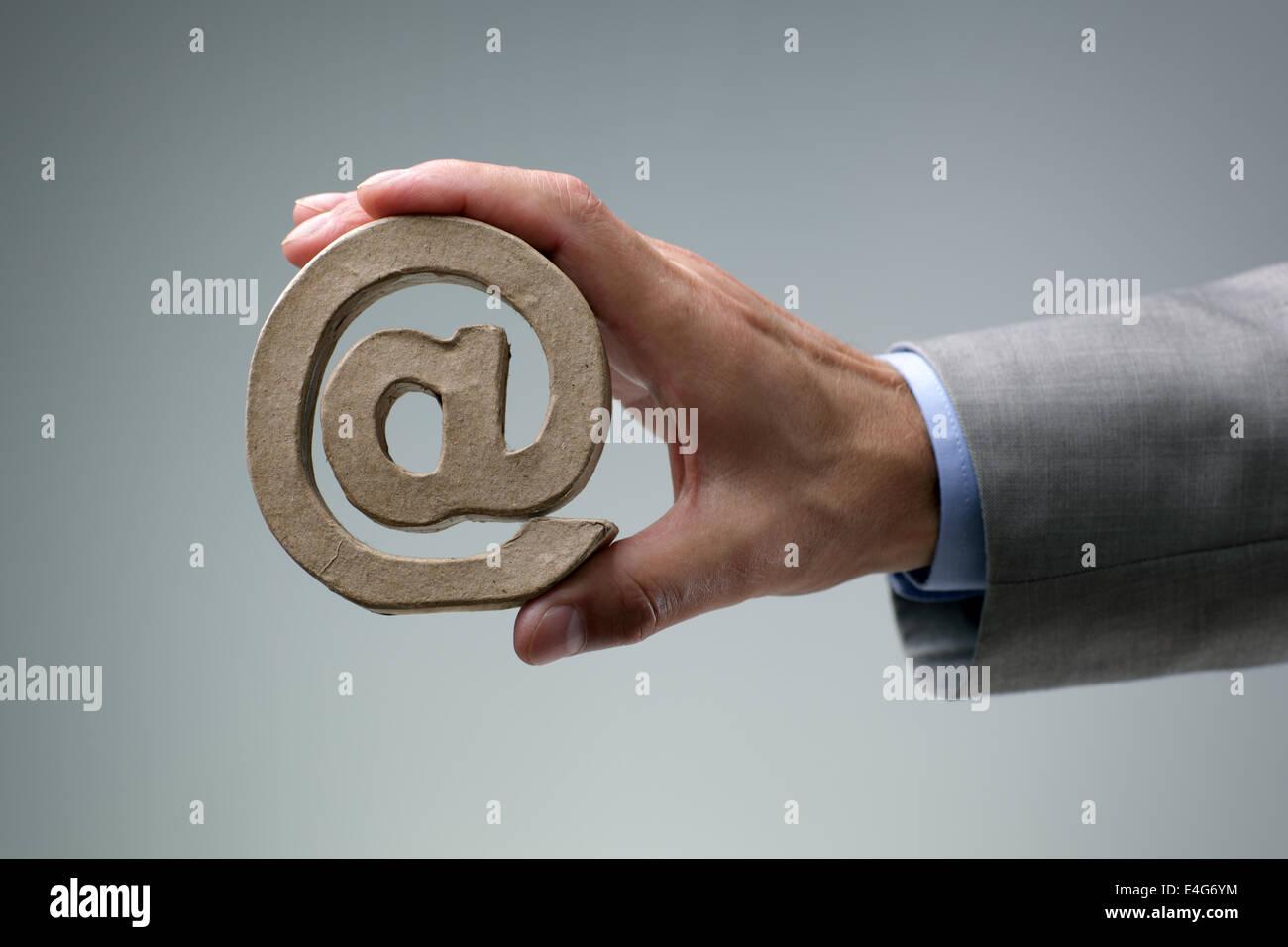 E-mail @ simbolo Immagini Stock