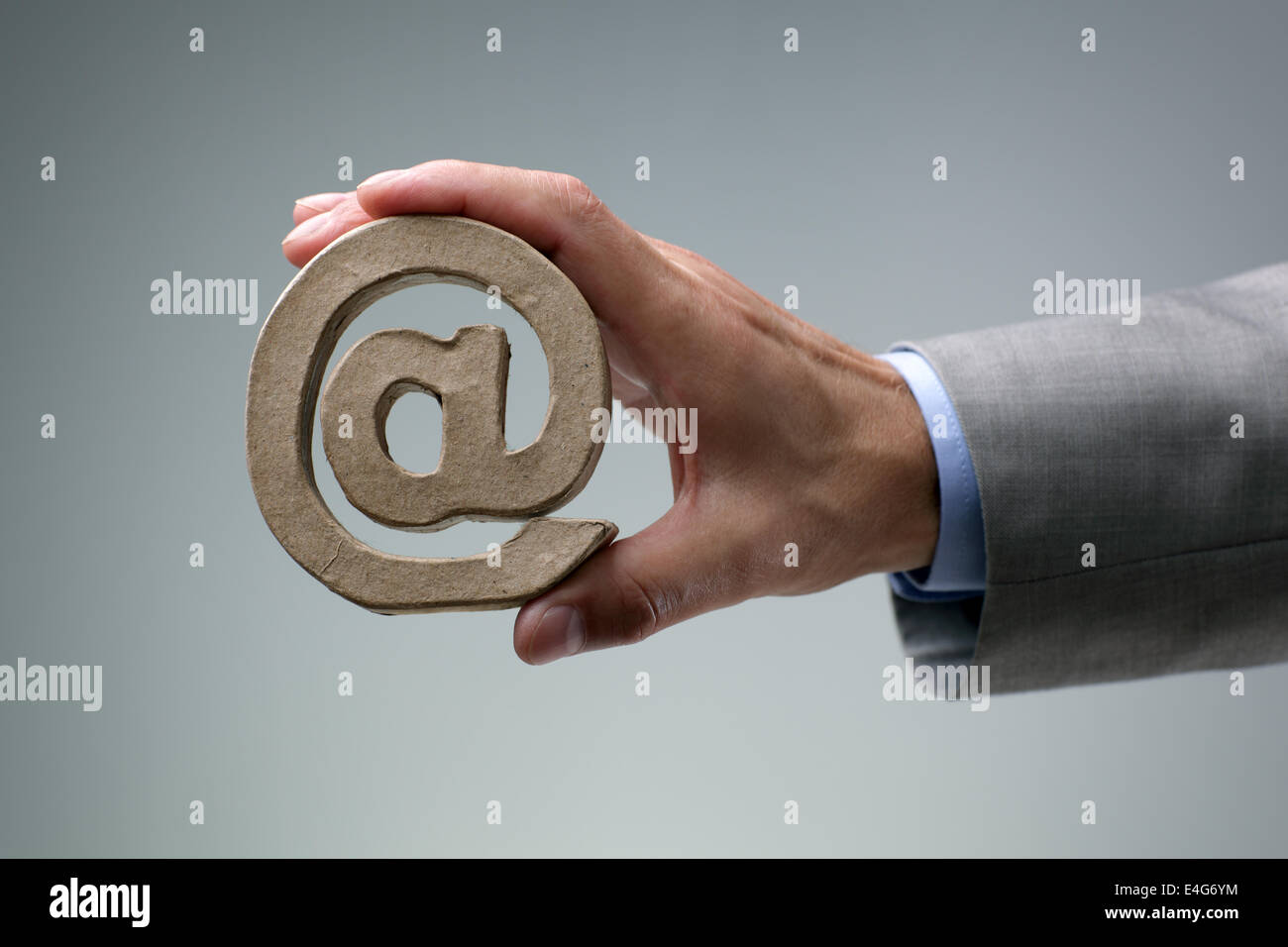 E-mail @ simbolo Foto Stock