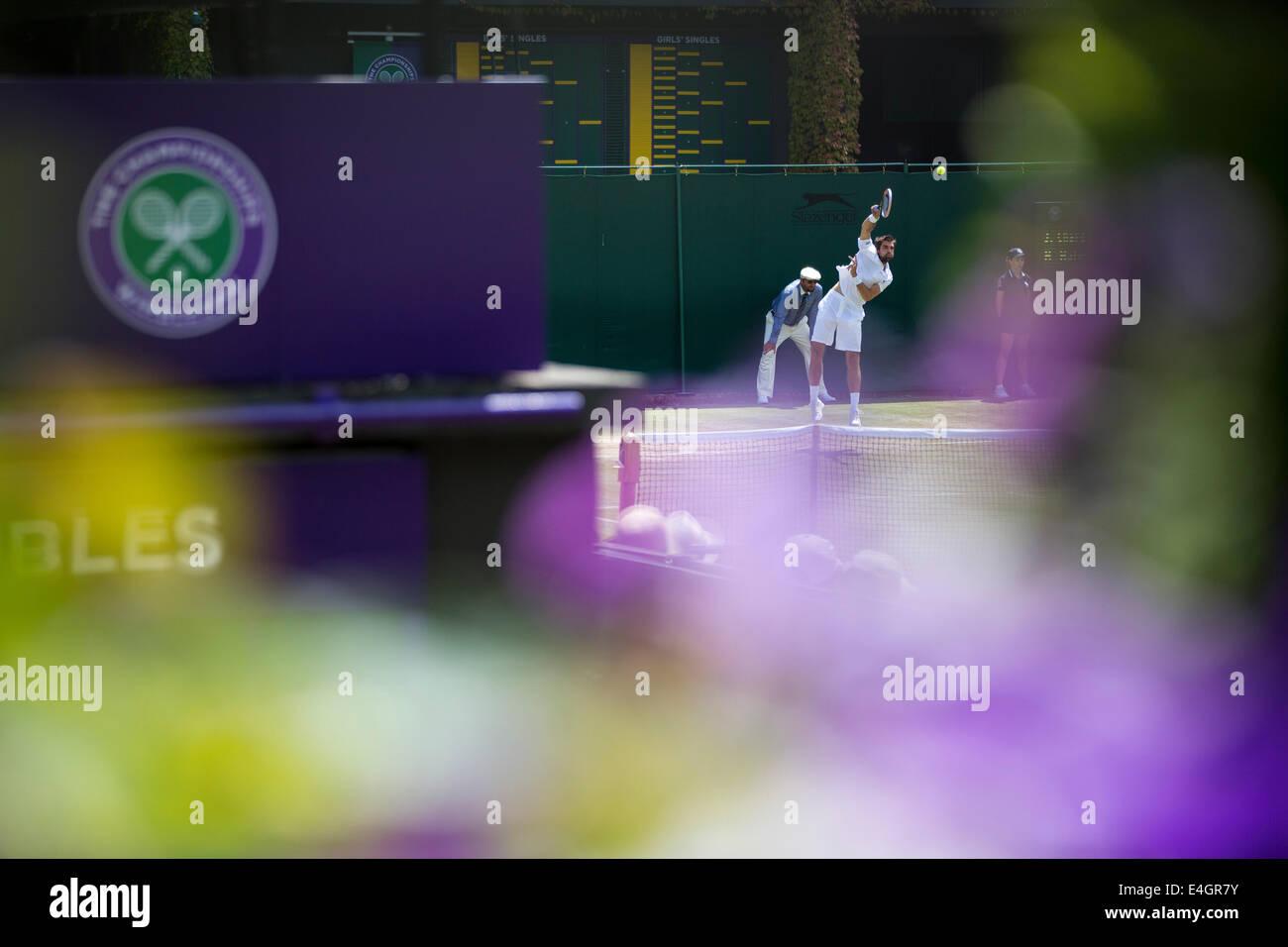 Wimbledon Tennis i campionati di Wimbledon 2014 All England Lawn Tennis & Crocquet Club Wimbledon Day 3 Mercoledì Immagini Stock