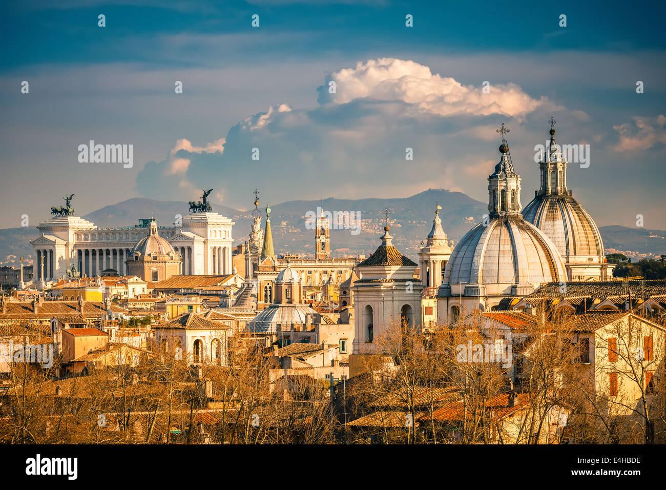 Vista aerea di Roma Immagini Stock
