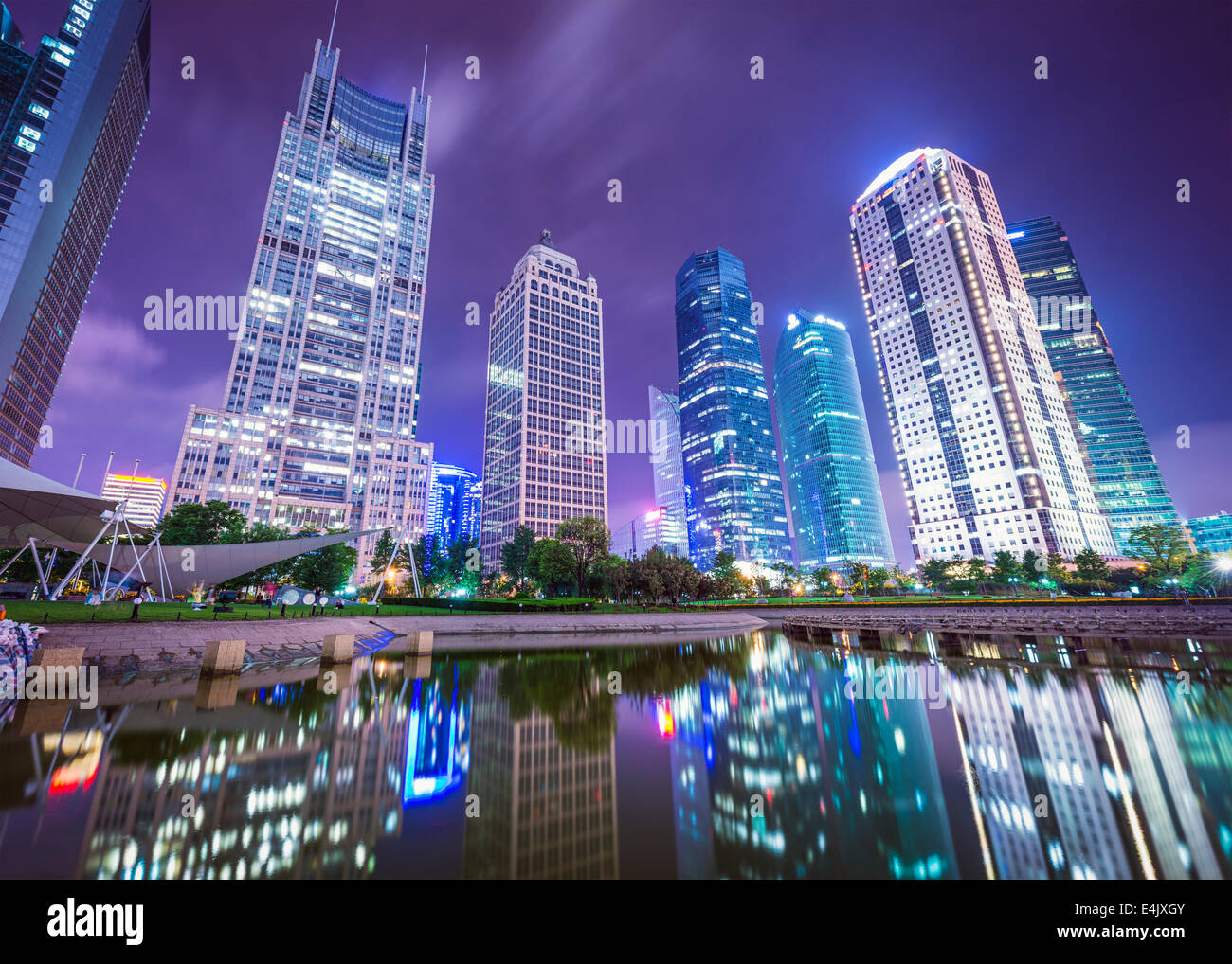 Shanghai, Cina cityscape di Binjiang Park. Immagini Stock
