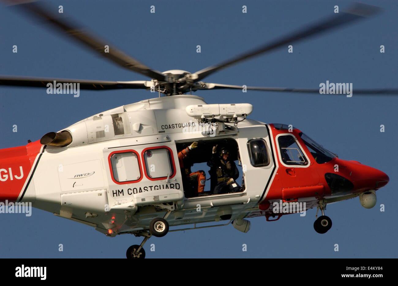 Elicottero 139 : Solent inghilterra airborne h.m. i guardacoste lynx elicottero aw