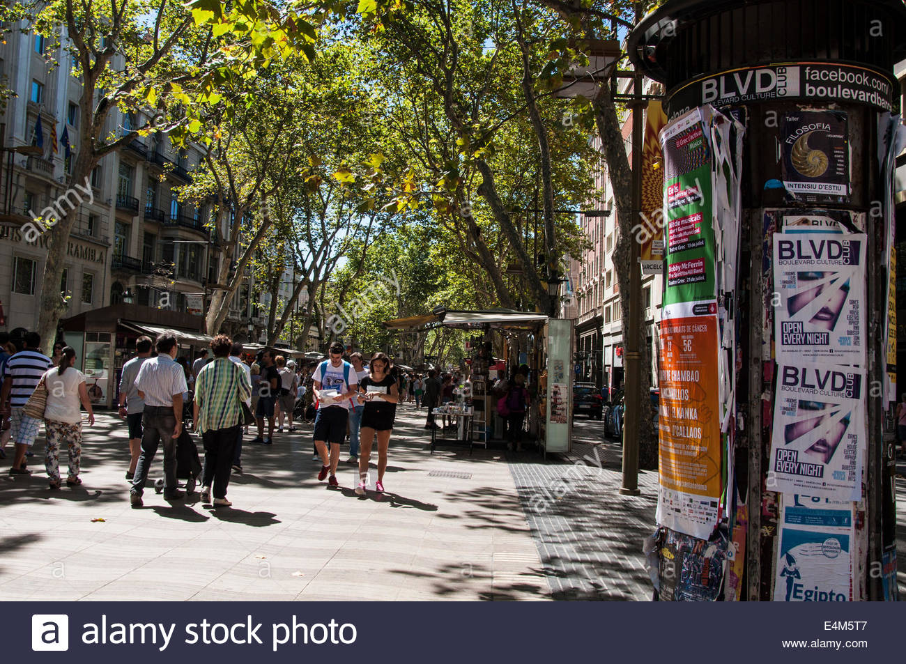 La Rambla de las flores, Barcellona Spagna Immagini Stock