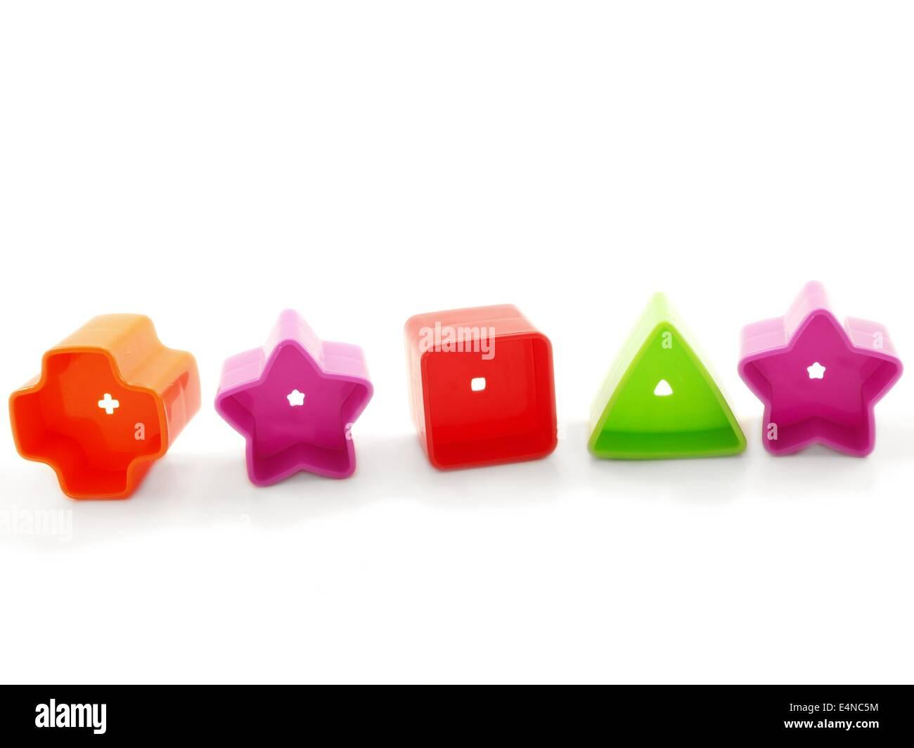 Forme di materia plastica Immagini Stock