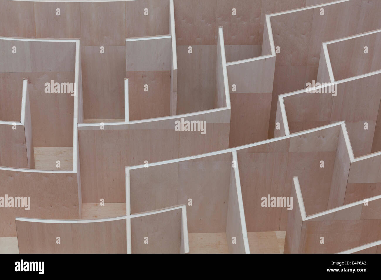 Su larga scala a labirinto National Building Museum - Washington DC, Stati Uniti d'America Immagini Stock