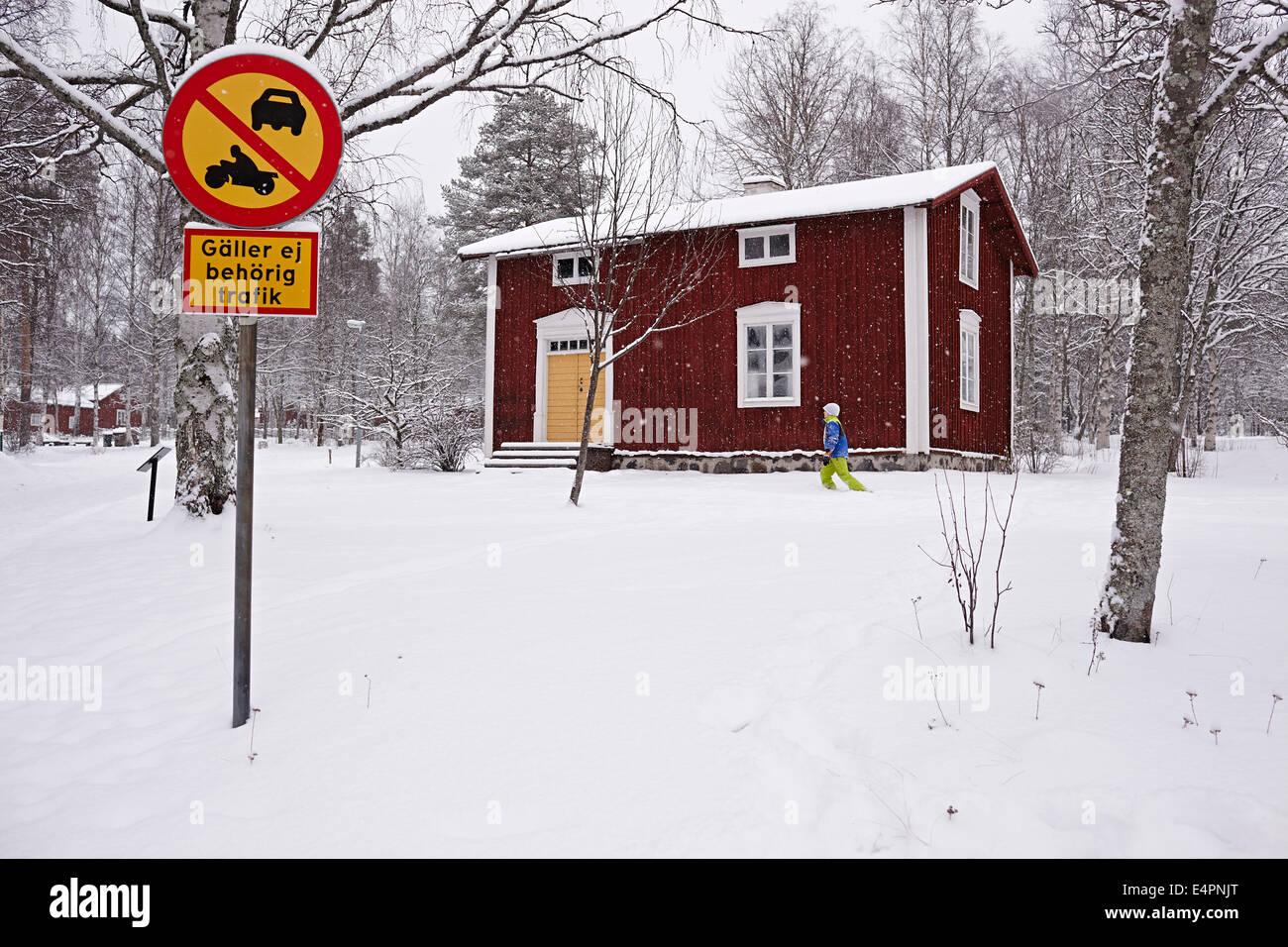 UMEA, Svezia settentrionale. Sami sono la Svezia, e in linea di principio dell'Europa, solo le popolazioni indigene. Immagini Stock