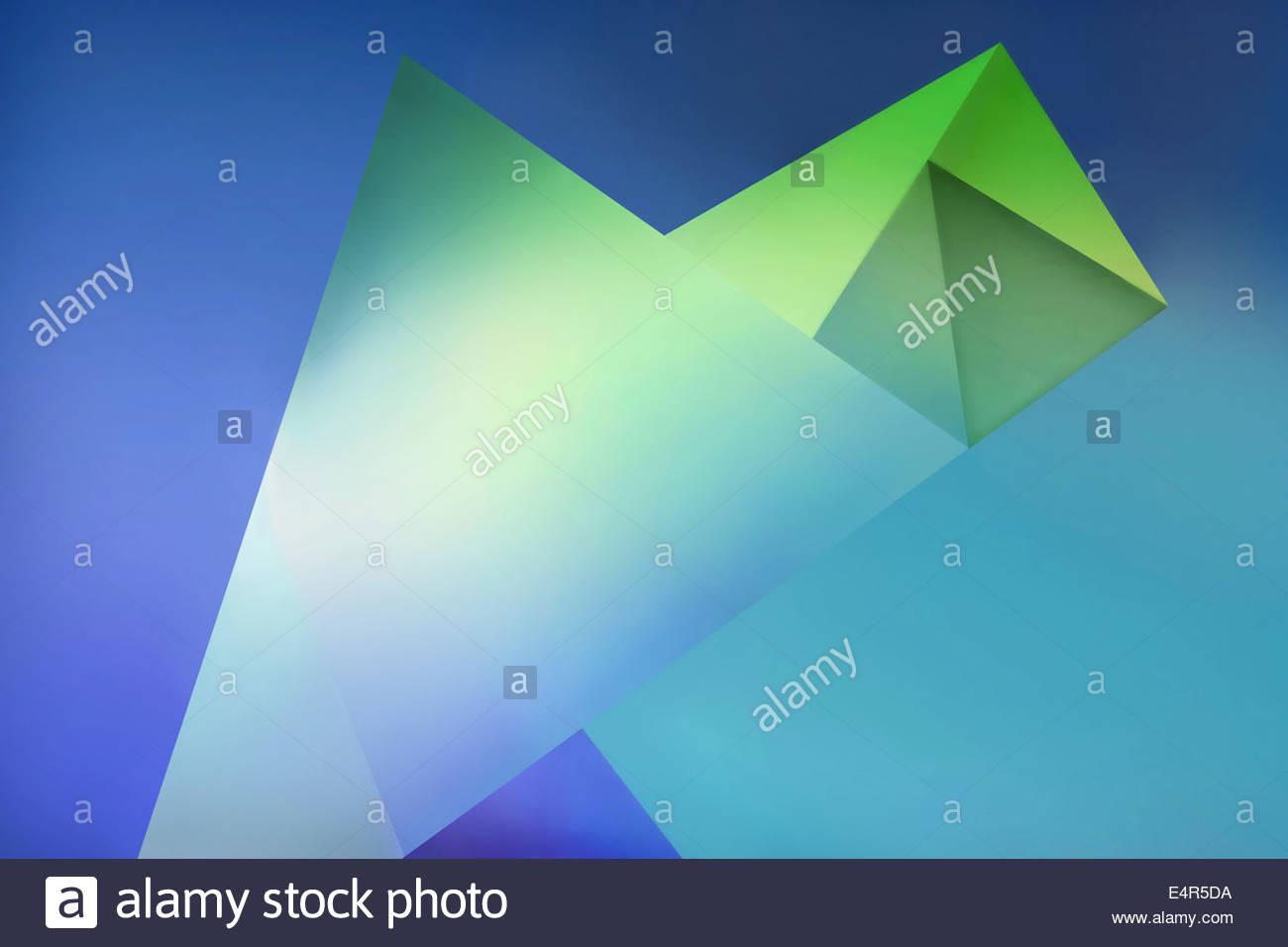 Gli sfondi di astratto modello di forme geometriche Foto Stock