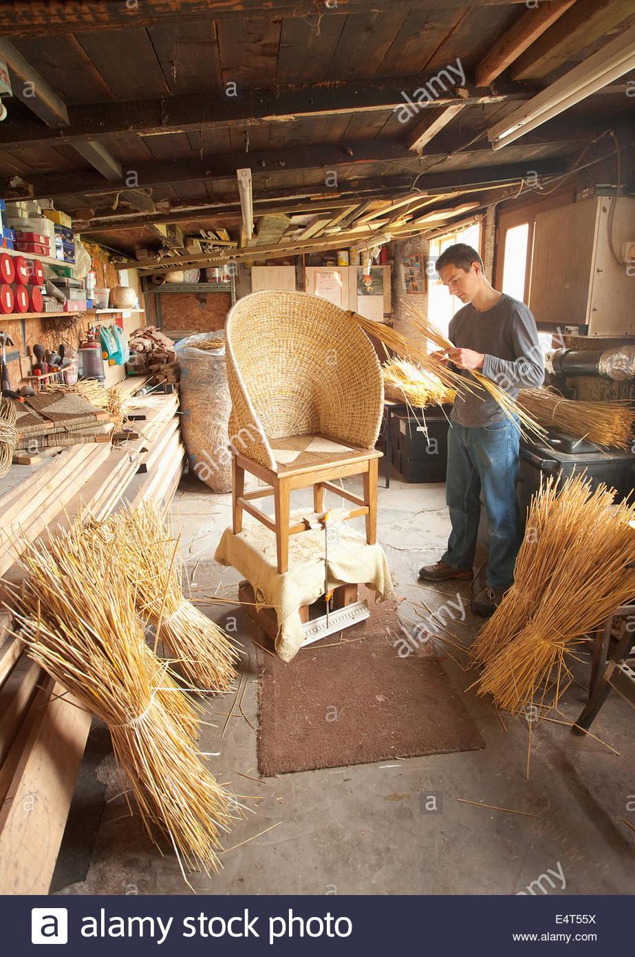 Fraser Anderson's Orkney arredi fatti a mano workshop a Kirkwall, Continentale, Orkney, Scozia. Nella foto qui Immagini Stock