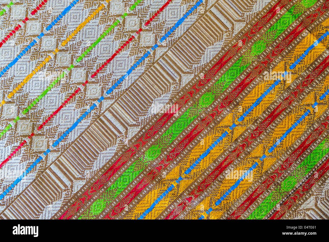 Bali, Indonesia. Il design pattern su un Sarong Balinese. Realizzato in Thailandia. Immagini Stock