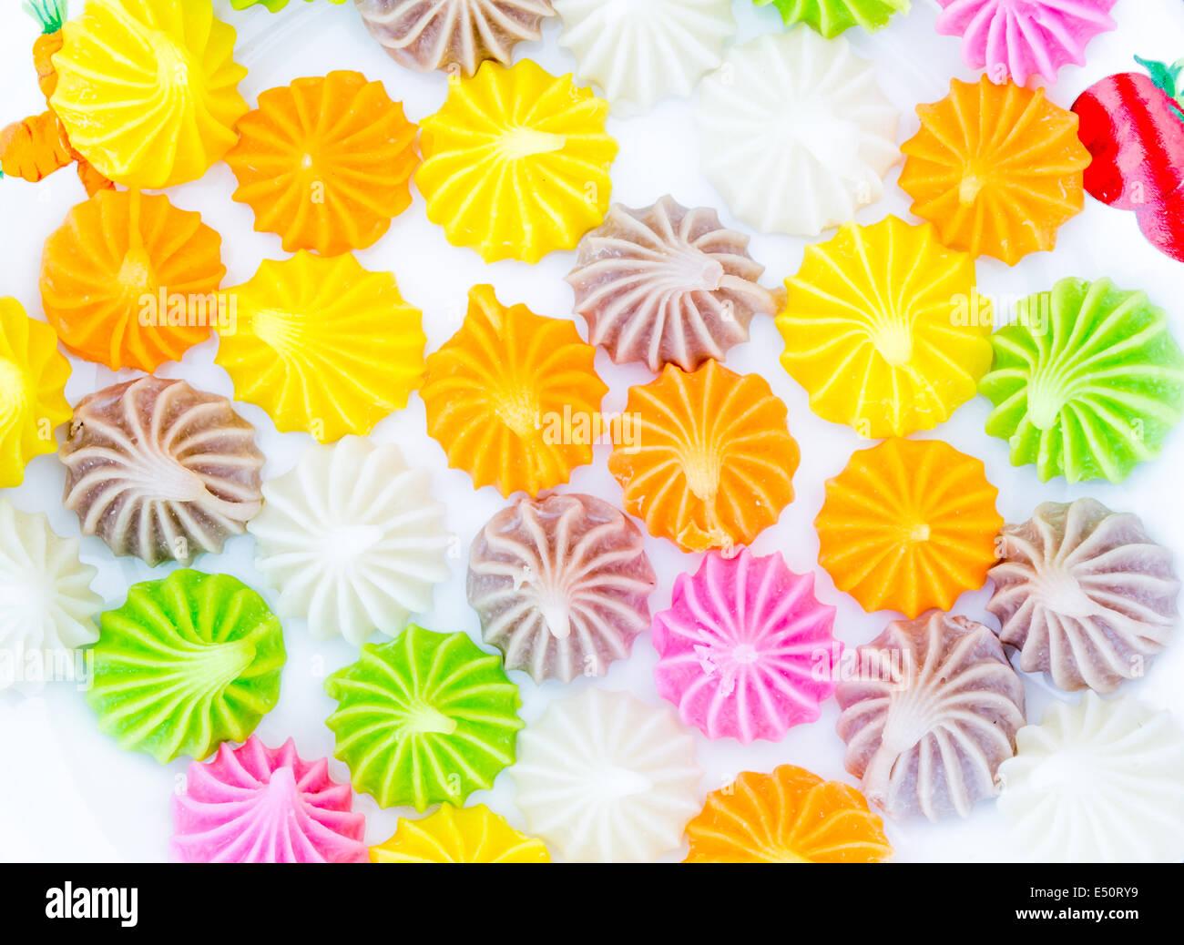 Dolcezza colorato stile Thai dessert Immagini Stock