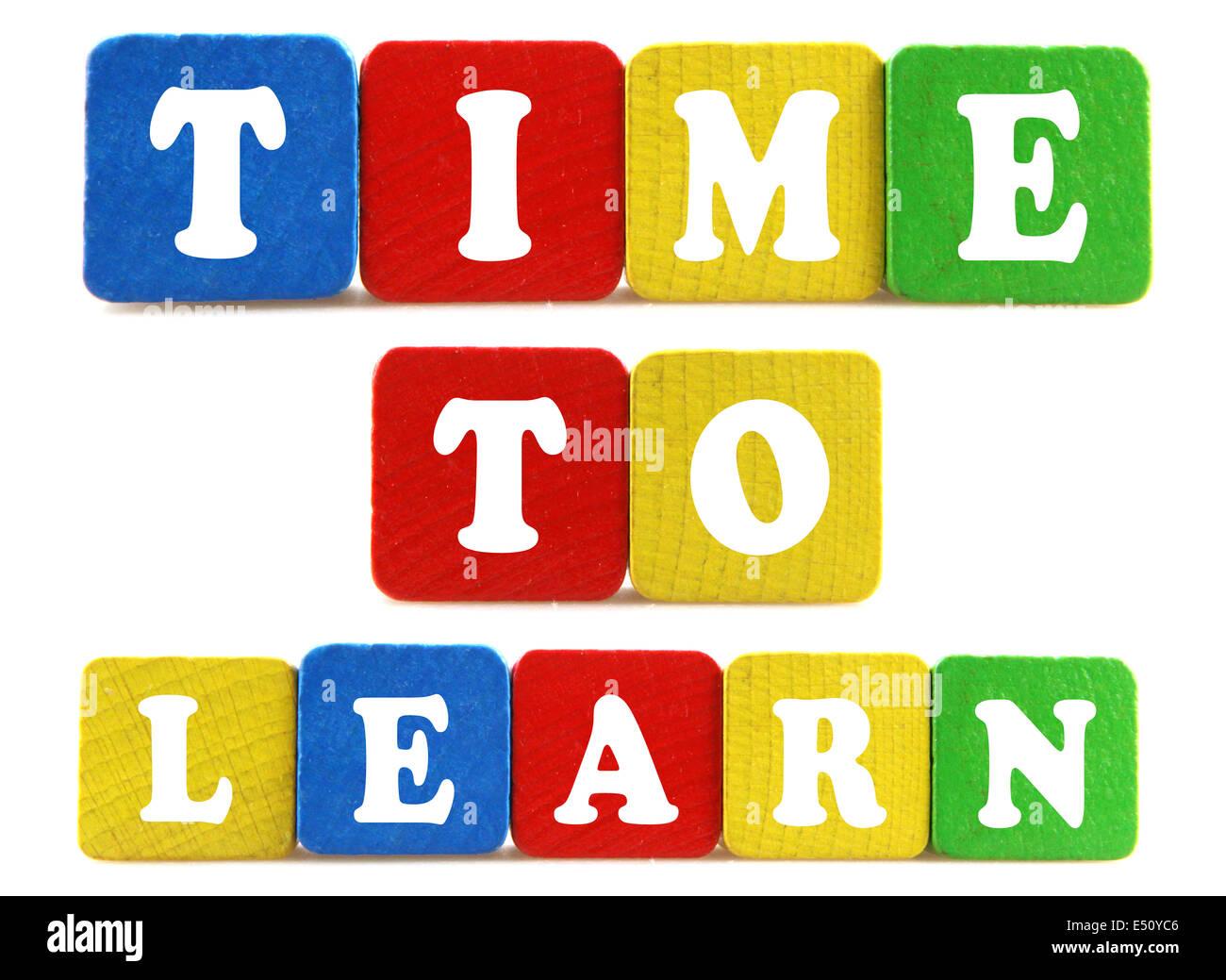 Tempo per apprendere il concetto Immagini Stock