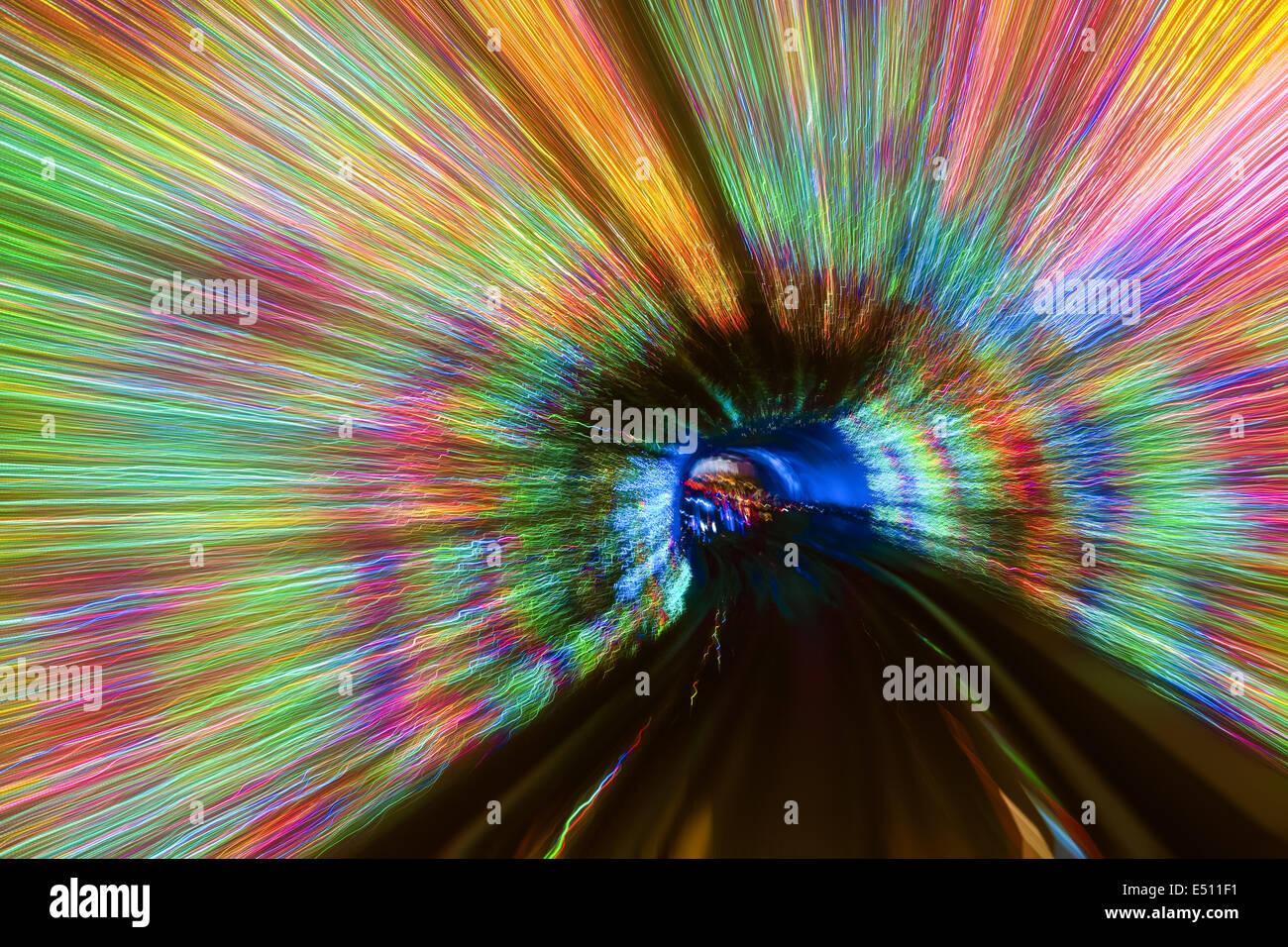 Coloratissimi sfondi di tunnel Immagini Stock