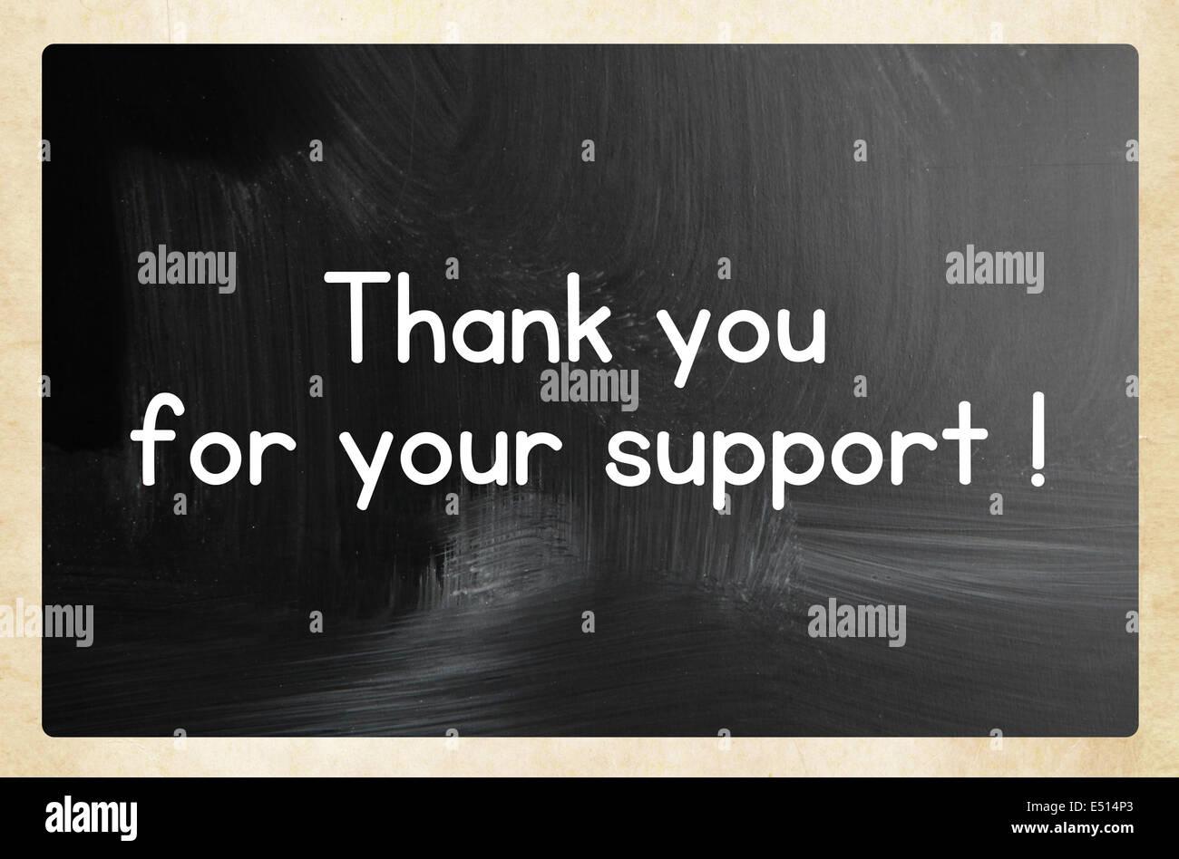 Vi ringrazio per il vostro sostegno ! Foto Stock