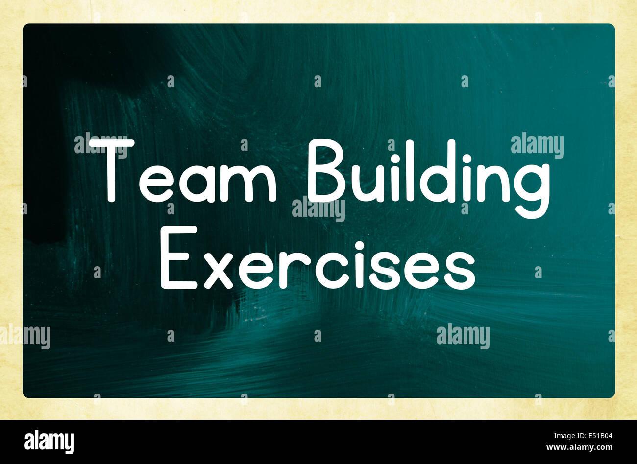Team building esercizi Immagini Stock
