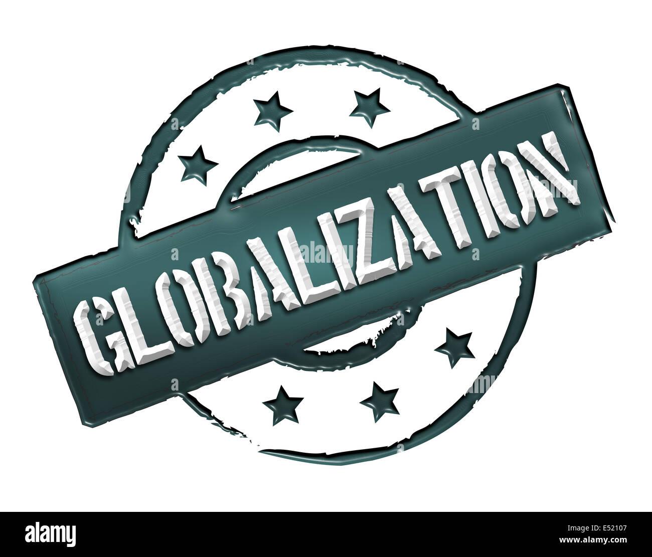 Timbro - la globalizzazione Immagini Stock