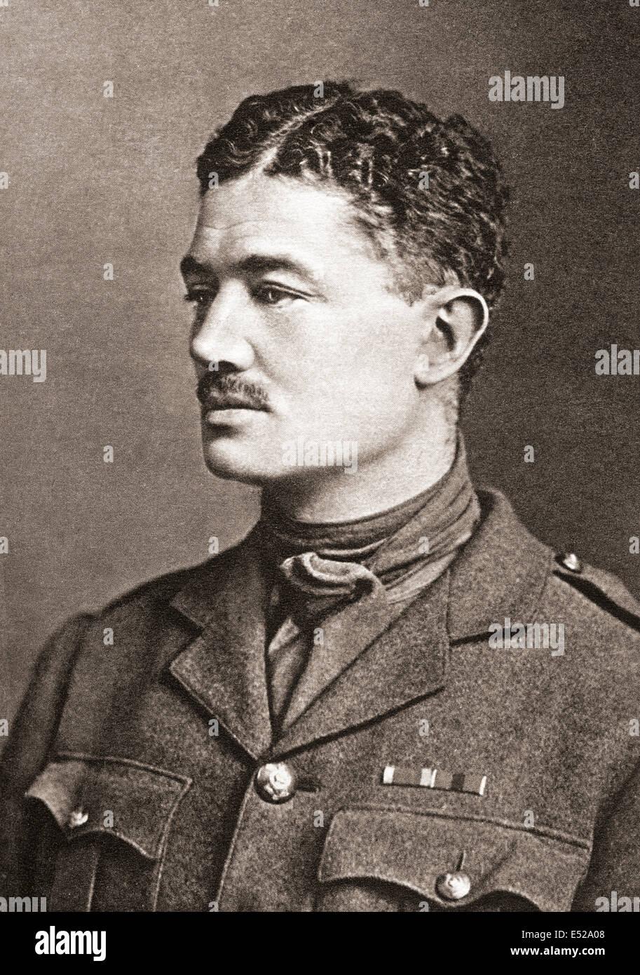 Gli onorevoli Julian Henry Francis Grenfell DSO, 1888 - 1915. Soldato britannico e poeta della guerra mondiale I. Immagini Stock