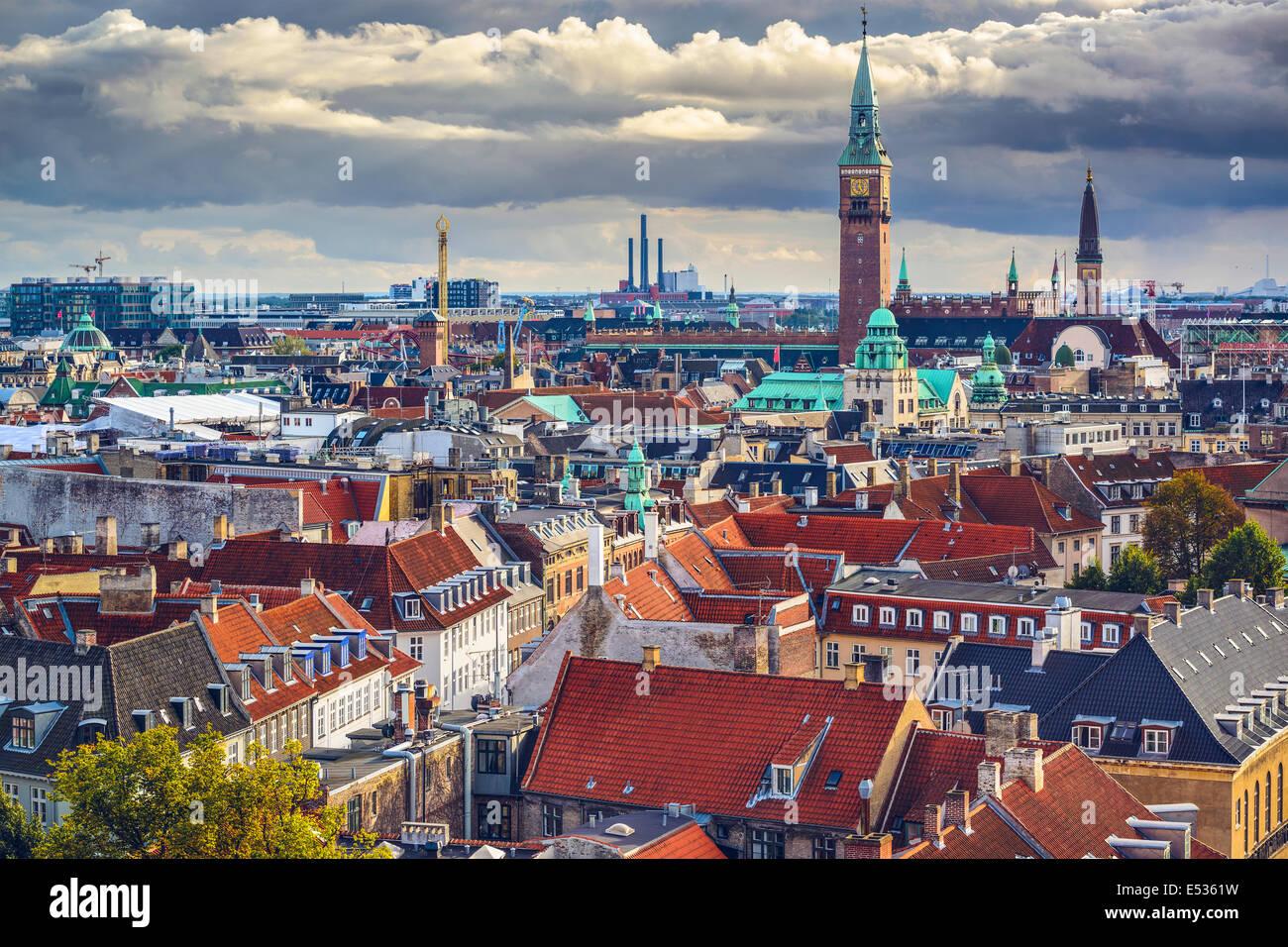 Copenhagen, Danimarca vecchio lo skyline della citta'. Foto Stock