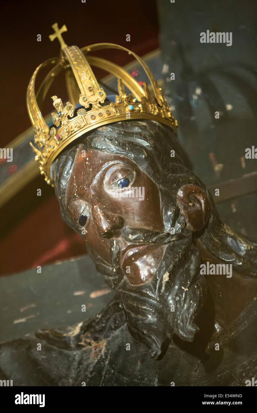 Il Volto Santo (santo Volto) carving di Gesù apparentemente scolpito da Nicodemo, Duomo di San Martino, Lucca, Immagini Stock
