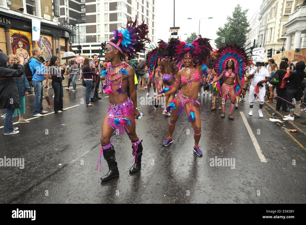 Carnevale di Notting Hill street parade Immagini Stock