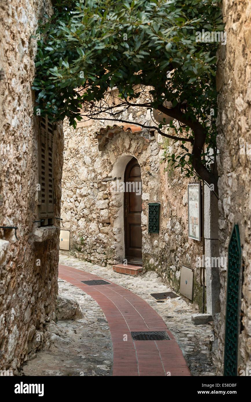 Architettura medievale, Eze, Cote d'Azur, in Francia Immagini Stock