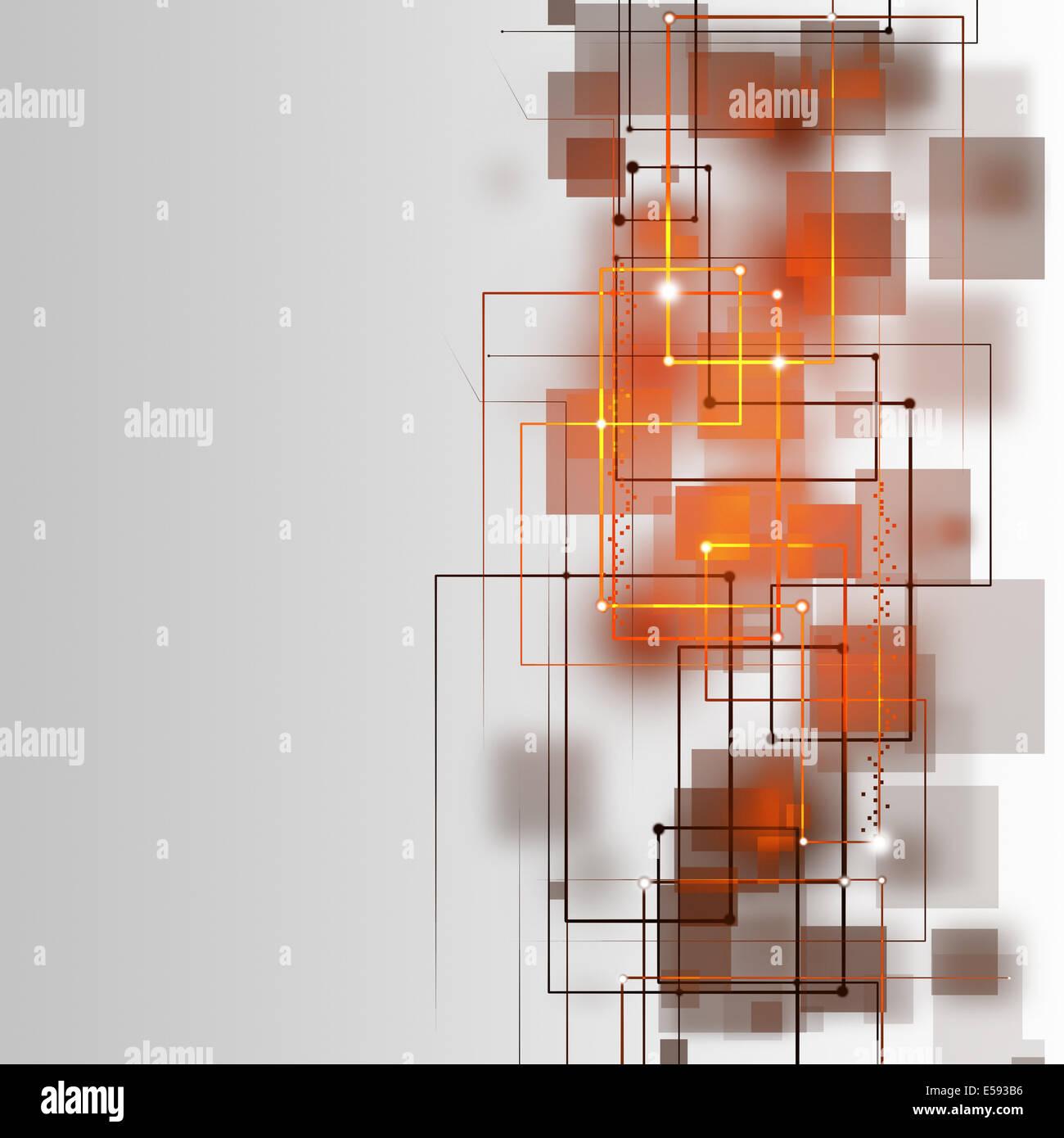 Tecnologia astratta linee sullo sfondo bianco Immagini Stock