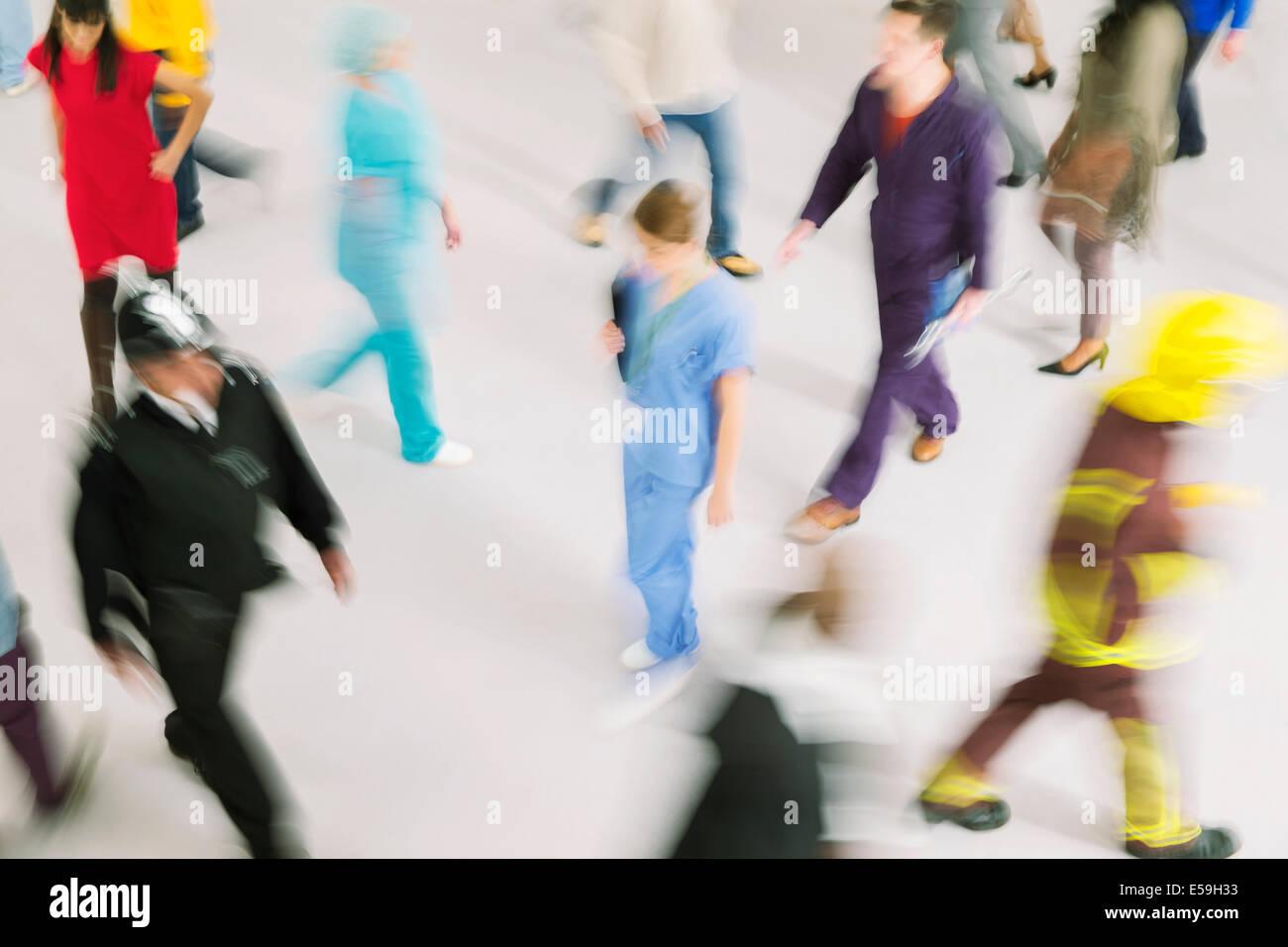 Dipendenti in movimento Immagini Stock