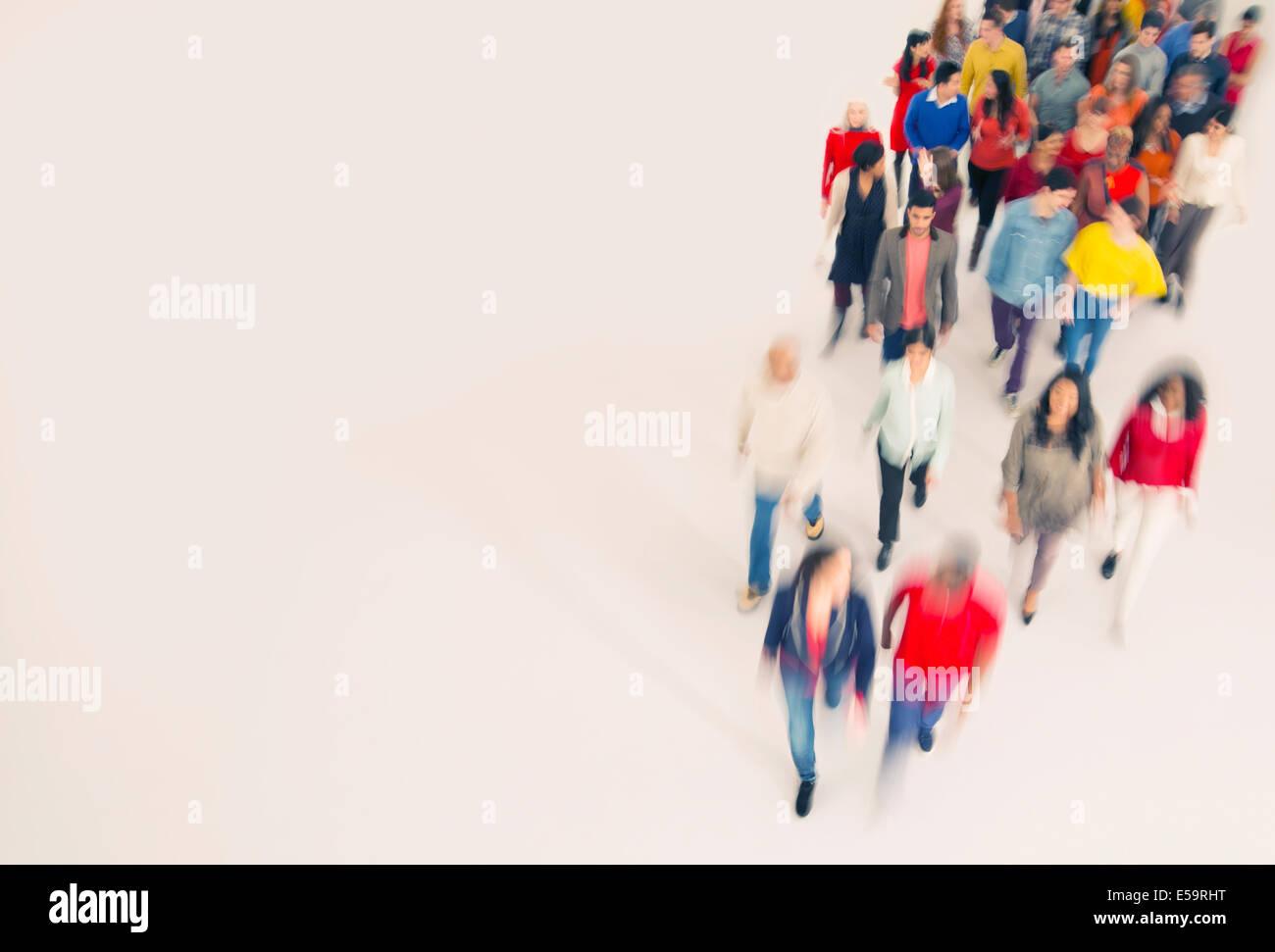 Folla a piedi Immagini Stock