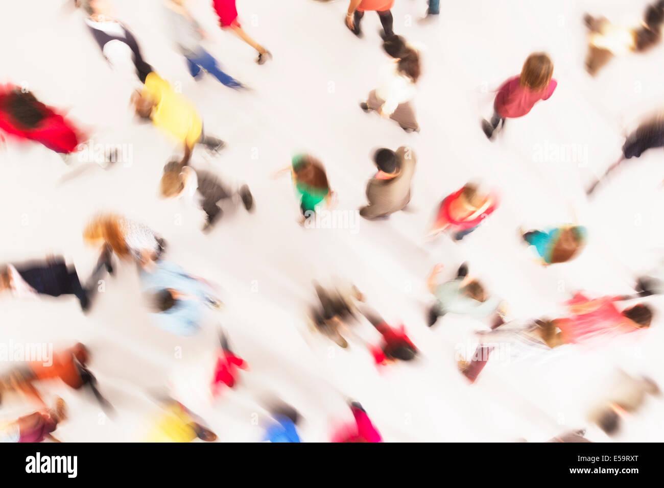 La gente di affari in movimento Immagini Stock