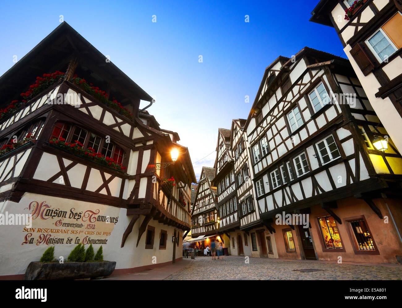 """""""Maison des Tanneurs' al quartiere Petite France. Strasburgo. Bas-Rhin. L'Alsazia. Francia Immagini Stock"""