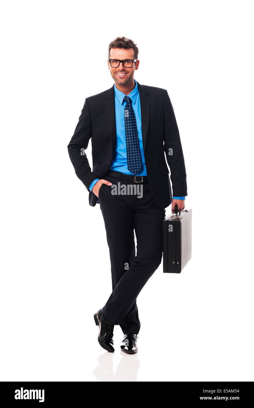 Ritratto di business intelligente uomo Debica, Polonia Immagini Stock