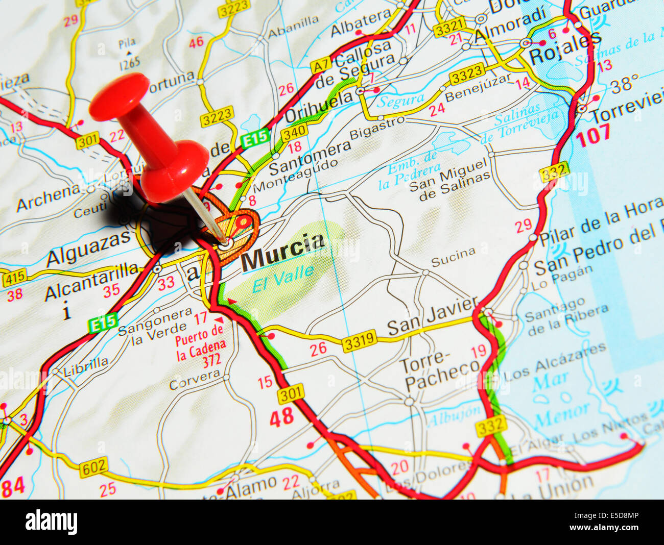 Cartina Murcia Spagna.Murcia Mappa Foto Stock Alamy