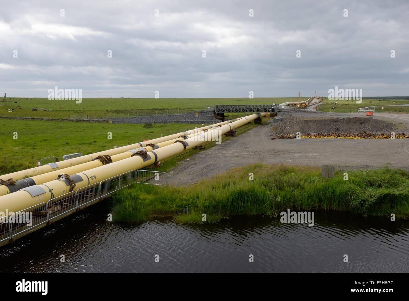 La fabbricazione del sito via di Subsea 7 pipeline Immagini Stock