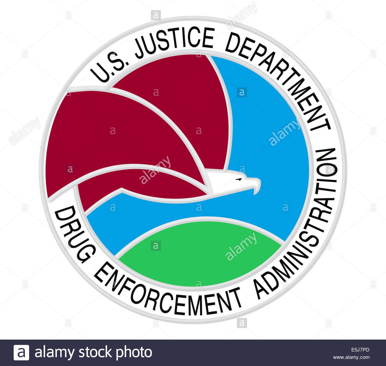 La Drug Enforcement Administration icona logo Immagini Stock