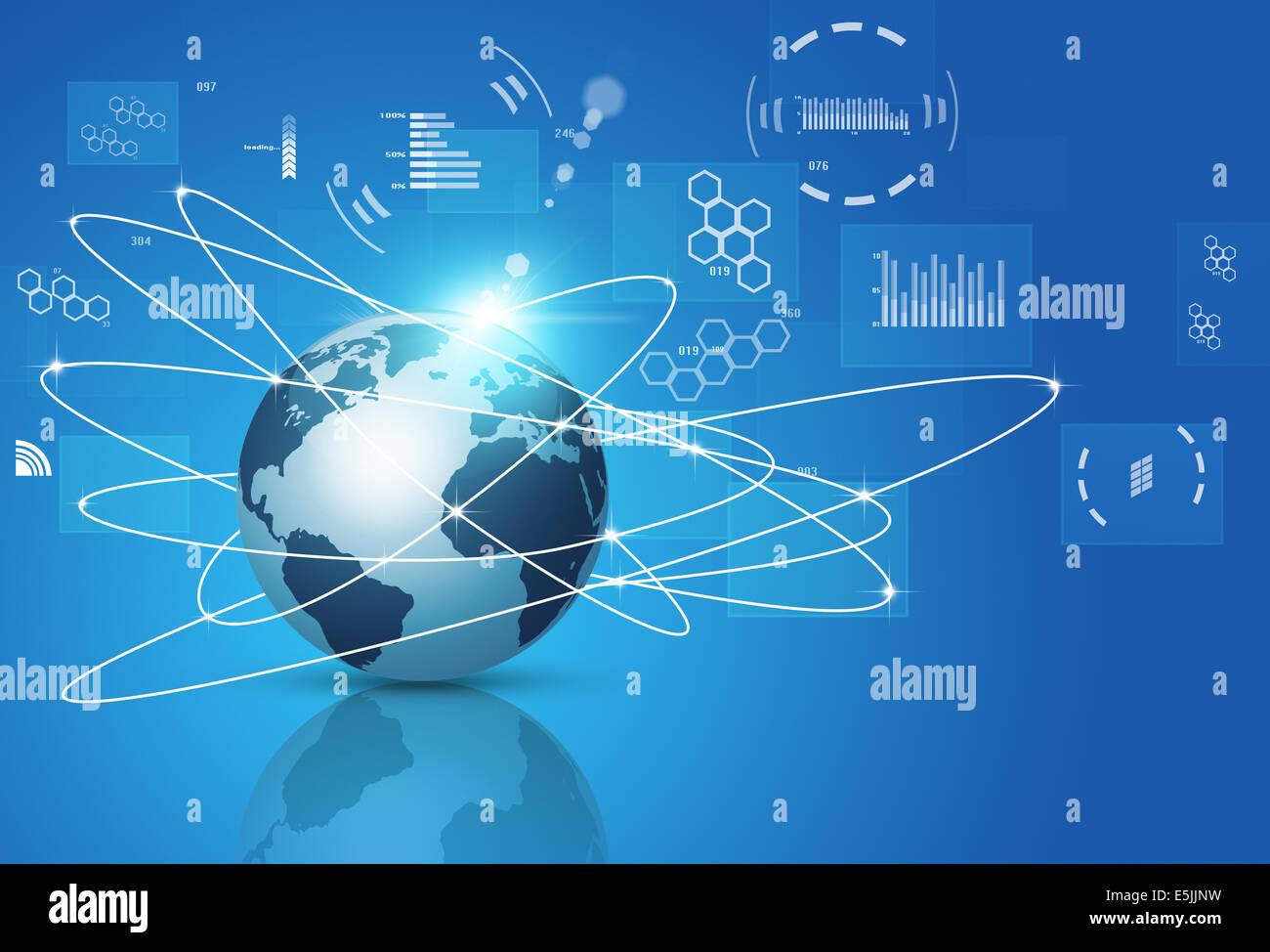 Abstract business e tecnologia concetto connessioni globali Immagini Stock